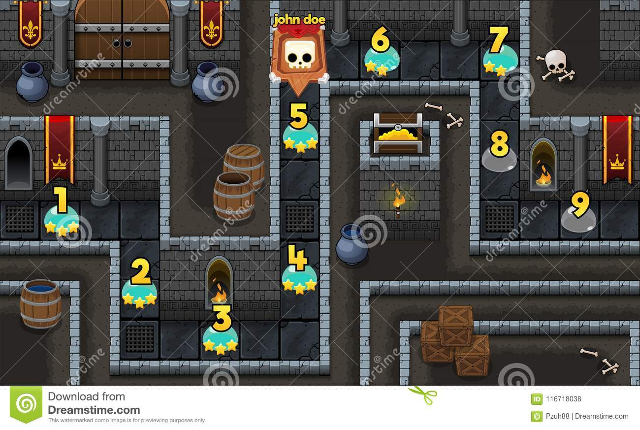Dungeon Map Stock Illustrations – 50 Dungeon Map Stock Illustrations on