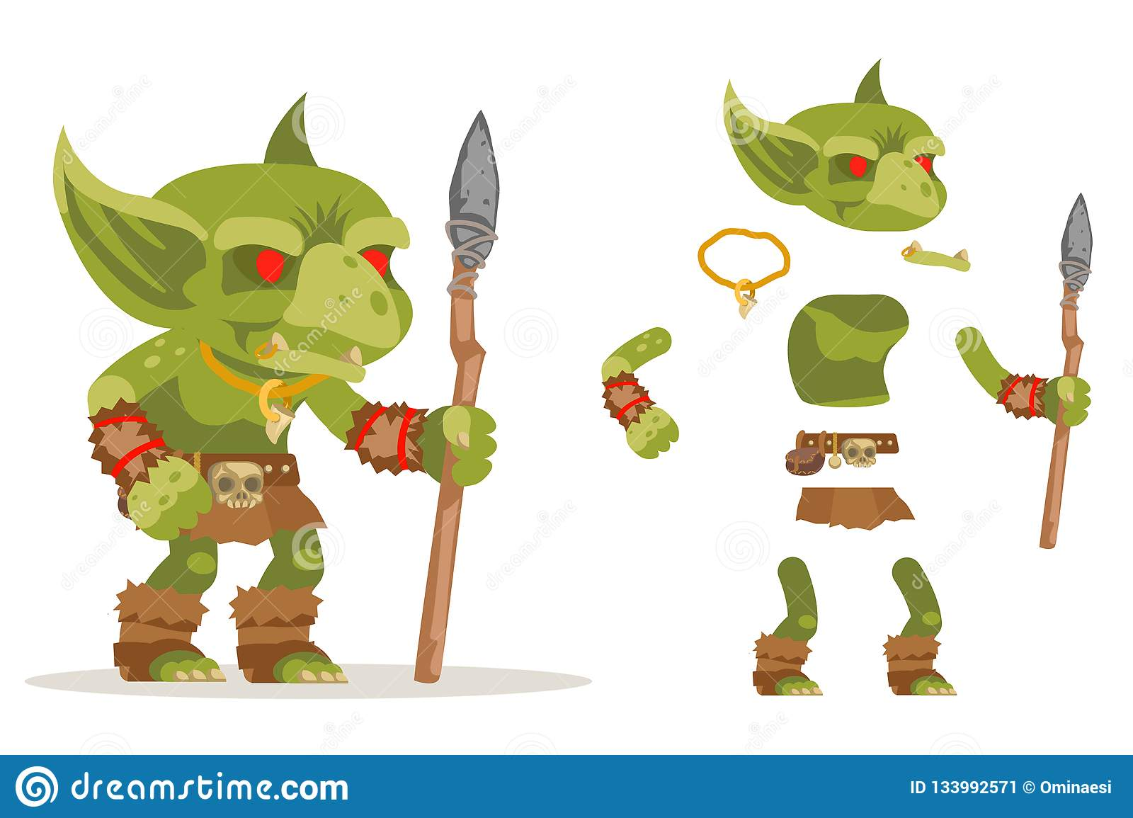 Dungeon Monster Goblin Evil Minion Fantasy Medieval Action RPG Game