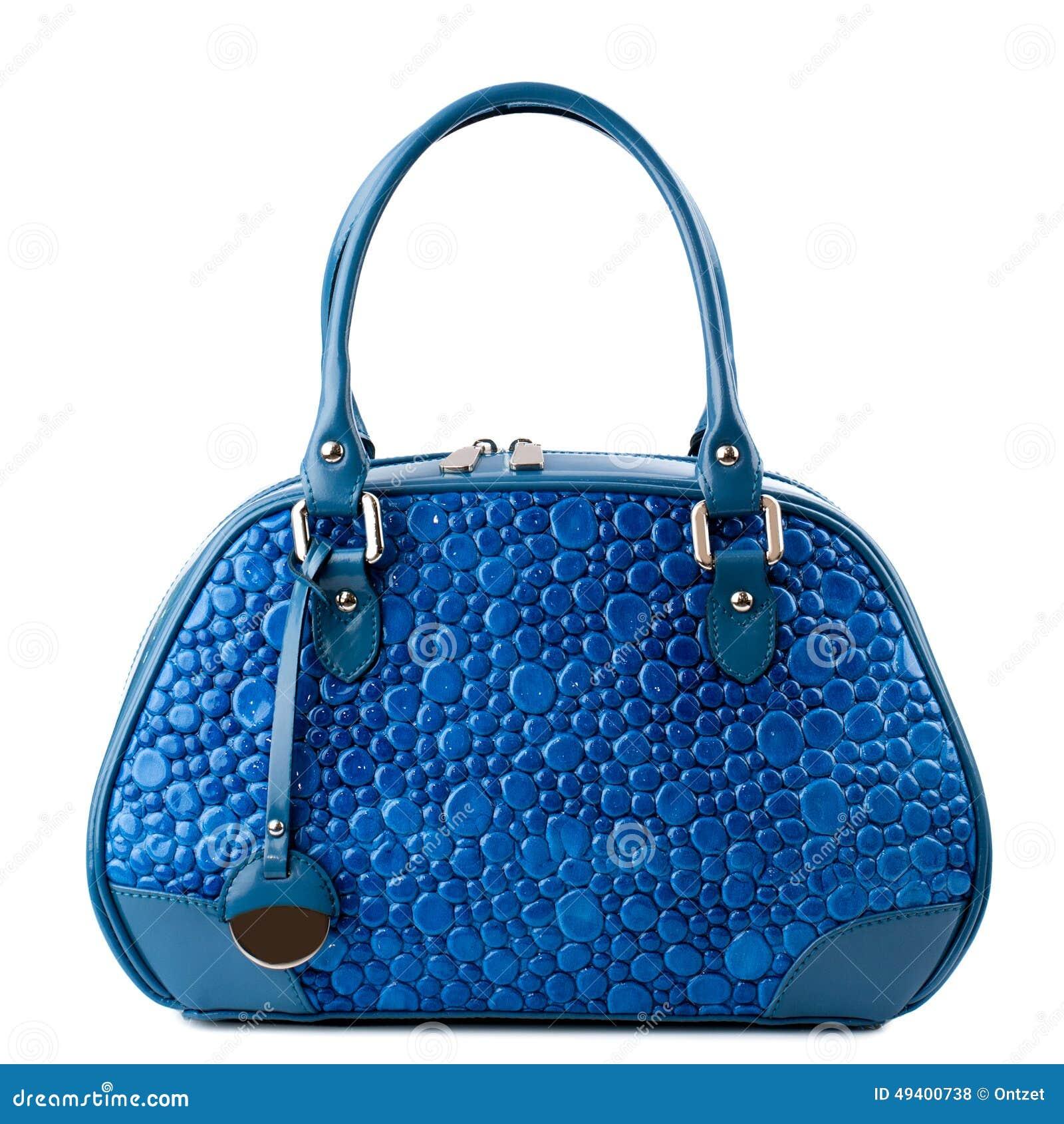 Download Dunkelblaue Handtasche Lokalisiert Auf Weißem Hintergrund Stockfoto - Bild von kühl, hand: 49400738