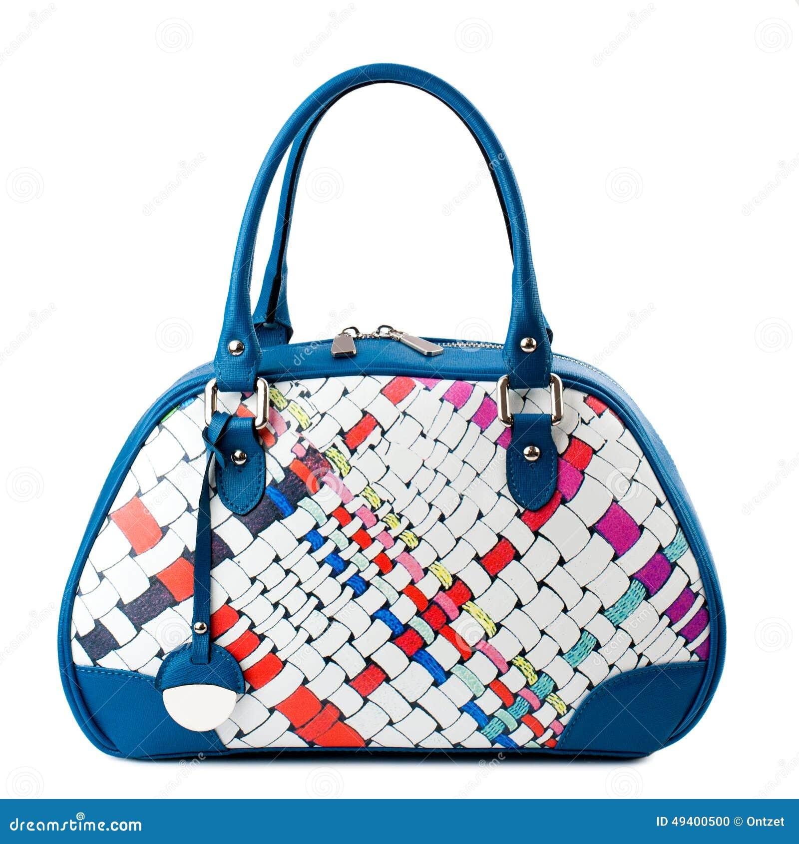 Download Dunkelblaue Weibliche Tasche Lokalisiert Auf Weißem Hintergrund Stockfoto - Bild von geschäft, weiblich: 49400500