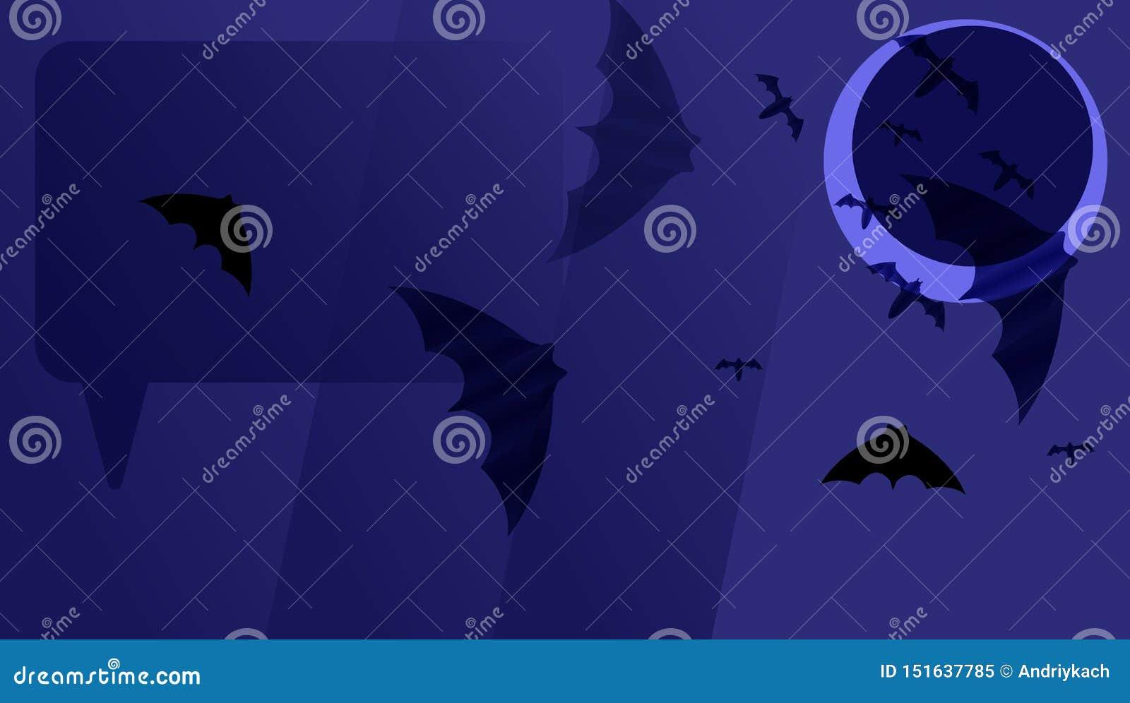 Dunkelblauer Papierhintergrund mit schwarzen Schlägern auf dunklem Mond K?rbiskopf auf dunklem Hintergrund mit Ahornbl?ttern