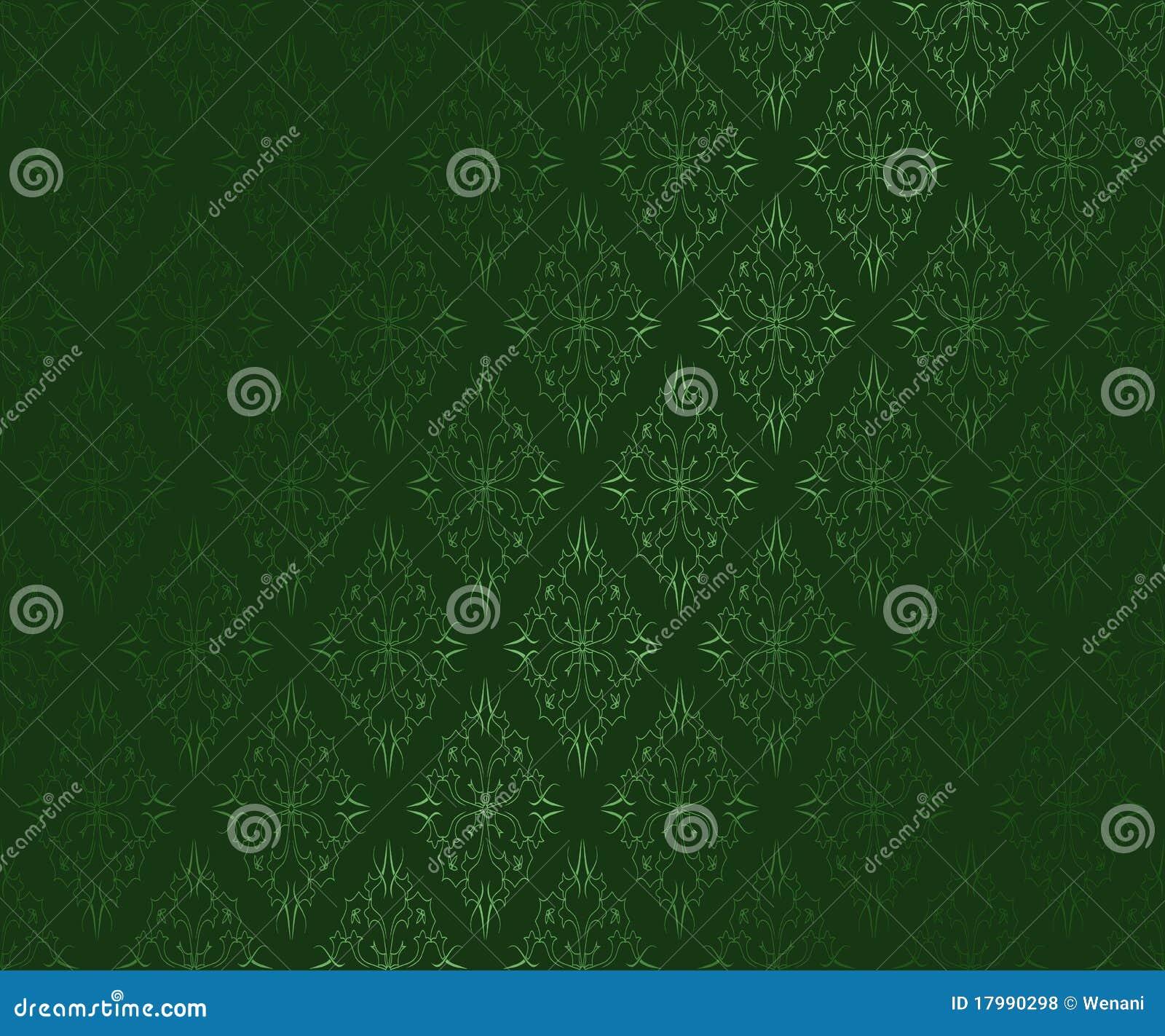 Dunkelgrune Dekorative Tapete Vektor Abbildung Illustration Von