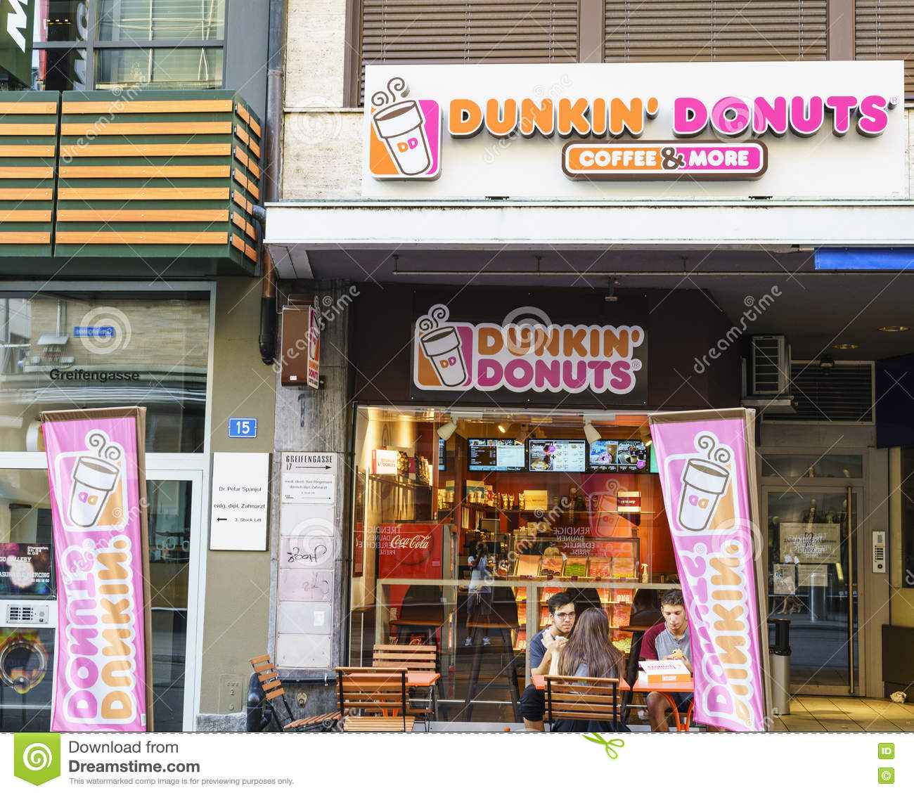 Dunkin Donuts Store In Switzerland Editorial Photo Image - Dunkin donuts location map usa