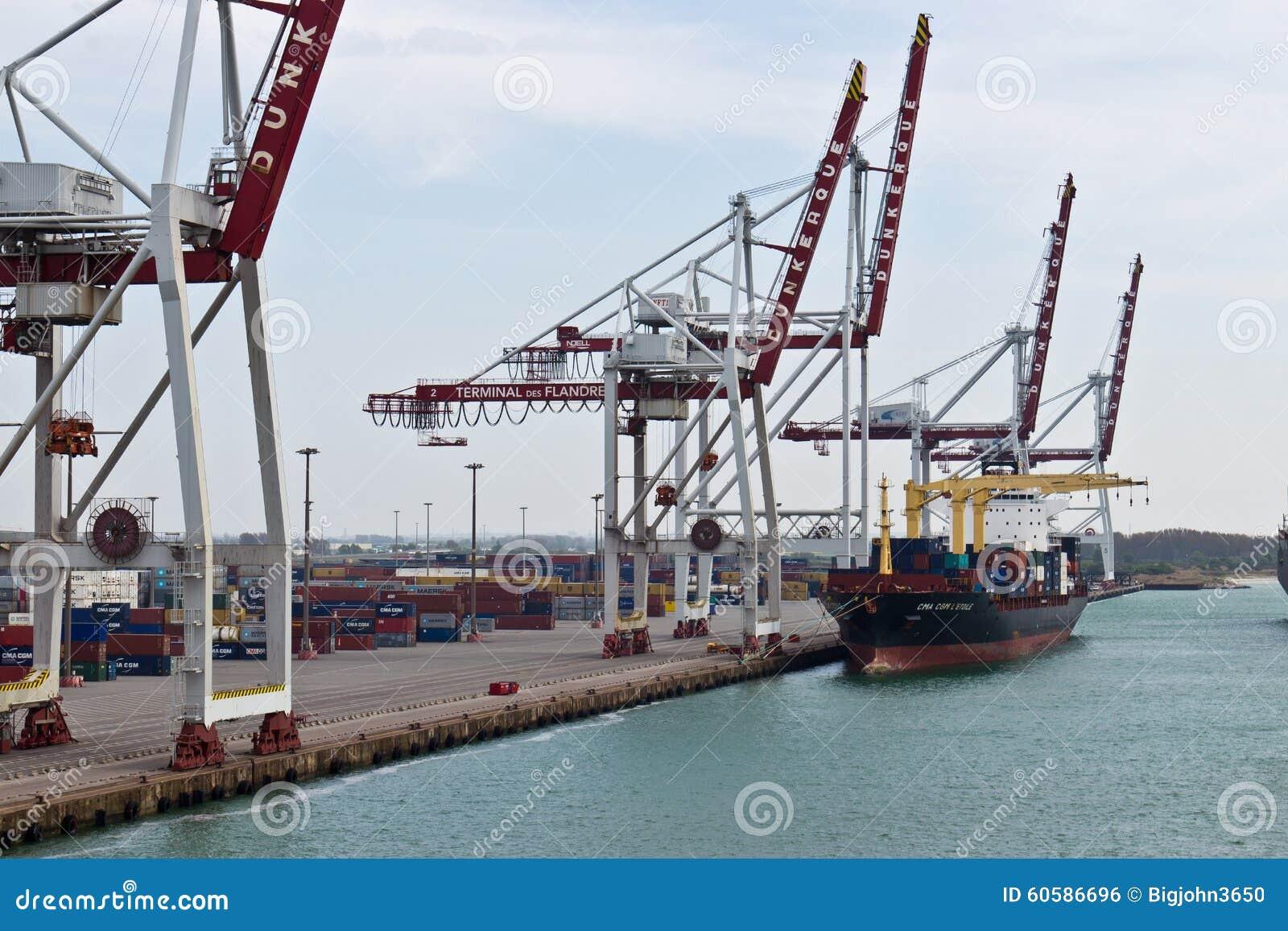 Dunkirk france april 17 2014 port of dunkirk grand port mar editorial photo image 60586696 - Dunkirk port france address ...