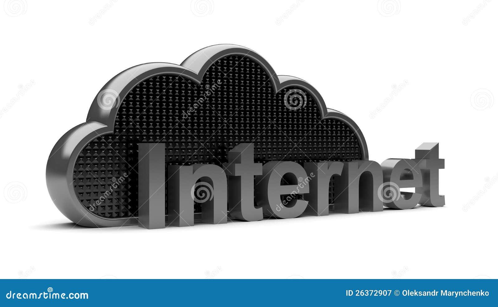 Dunkle schwarze Internet-Stahlwolke