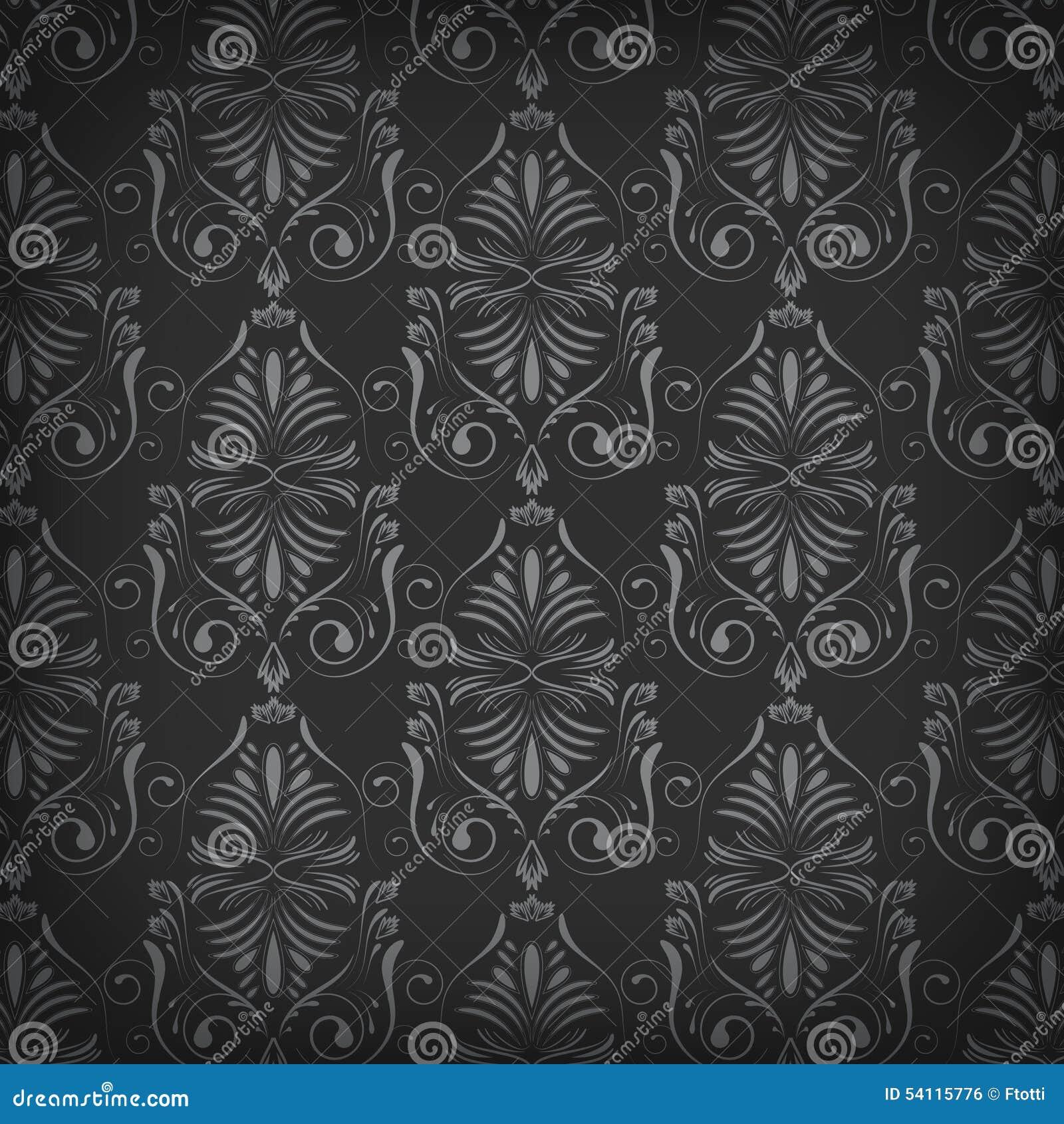 Dunkle Tapete Mit Nahtlosem Muster Vektor Abbildung Illustration