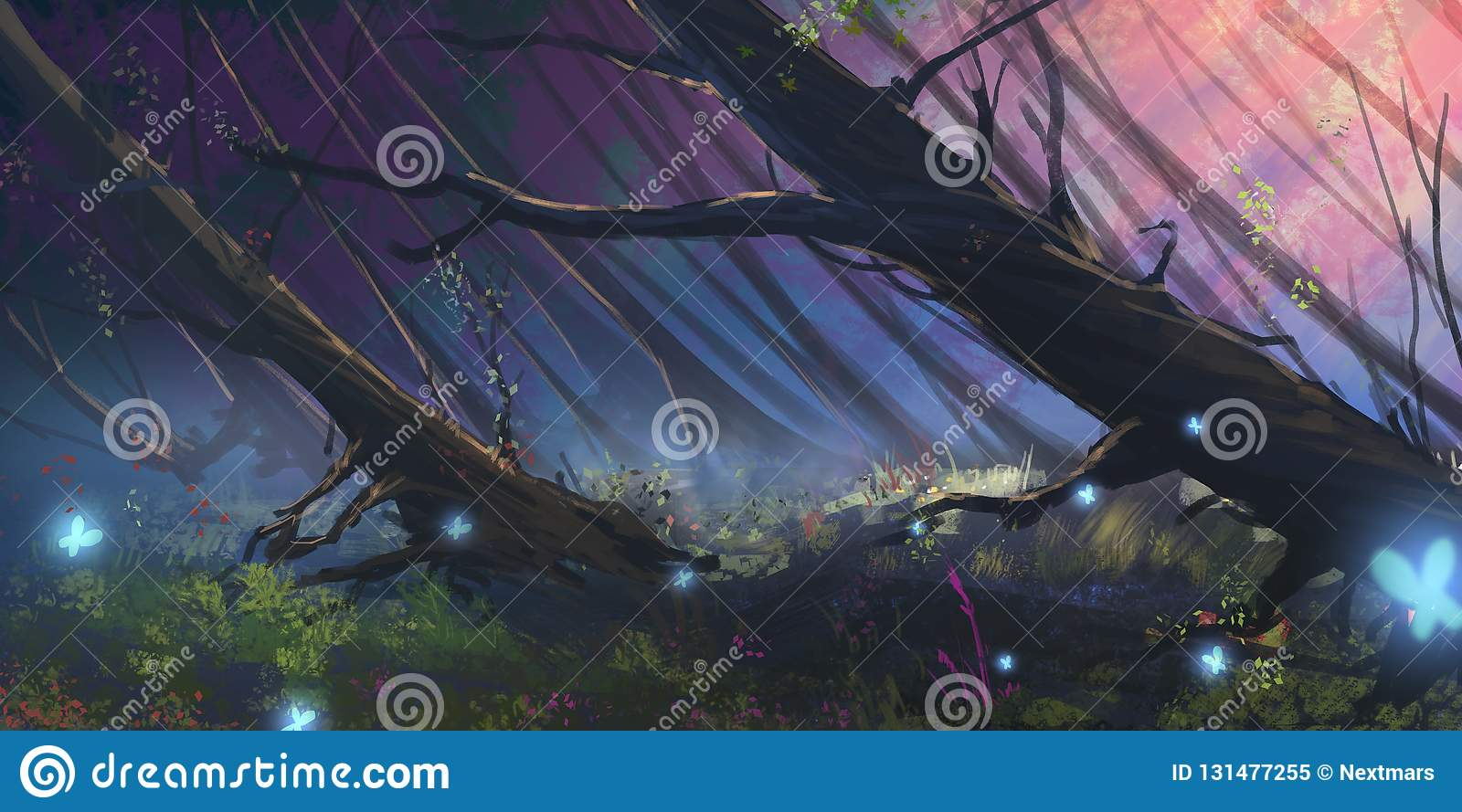 Dunkler Forest Realistic Style