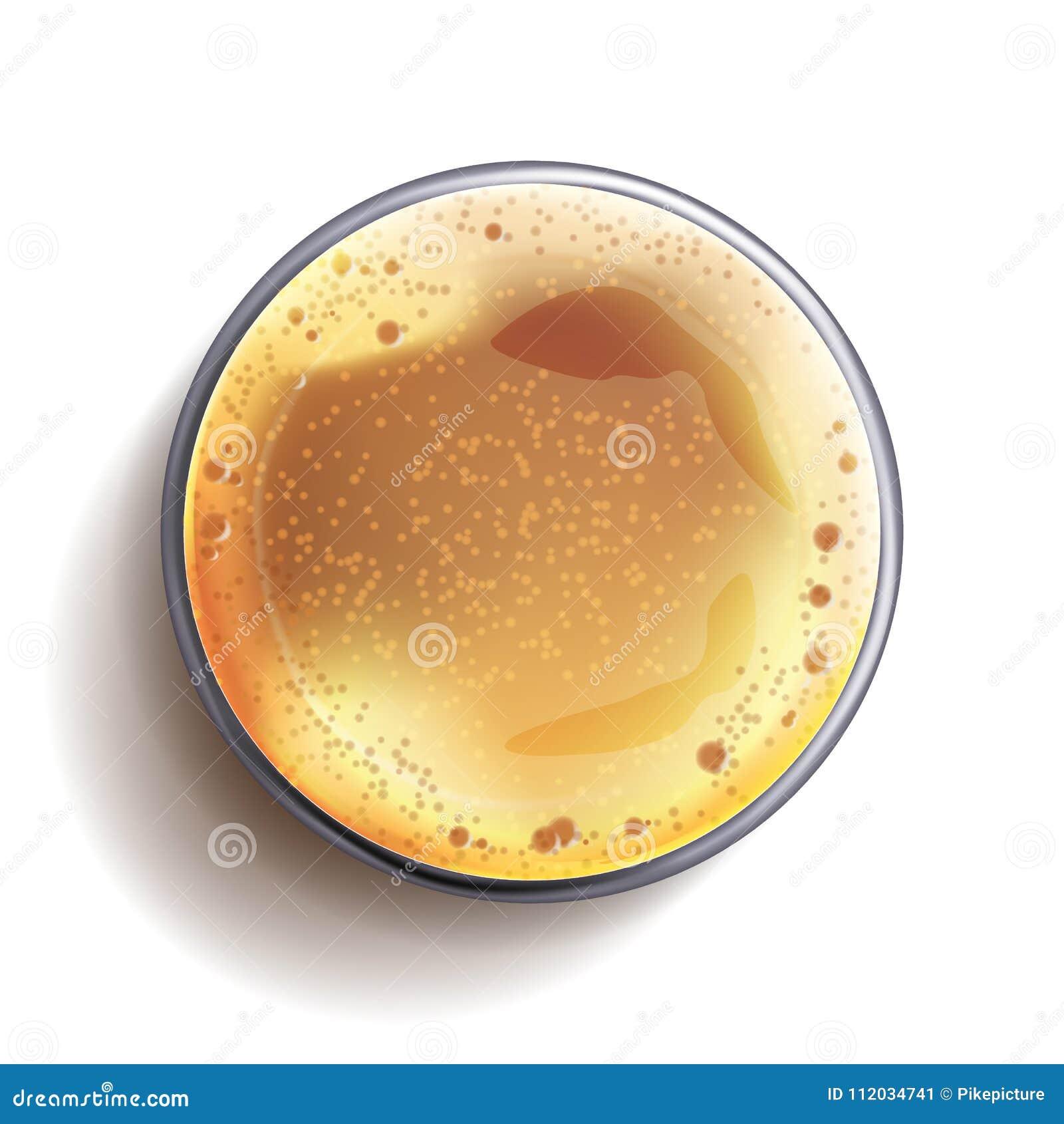 Dunkles Bier-Glasplatte-Ansicht-Vektor Illustration EPS-10 Alkohol ...