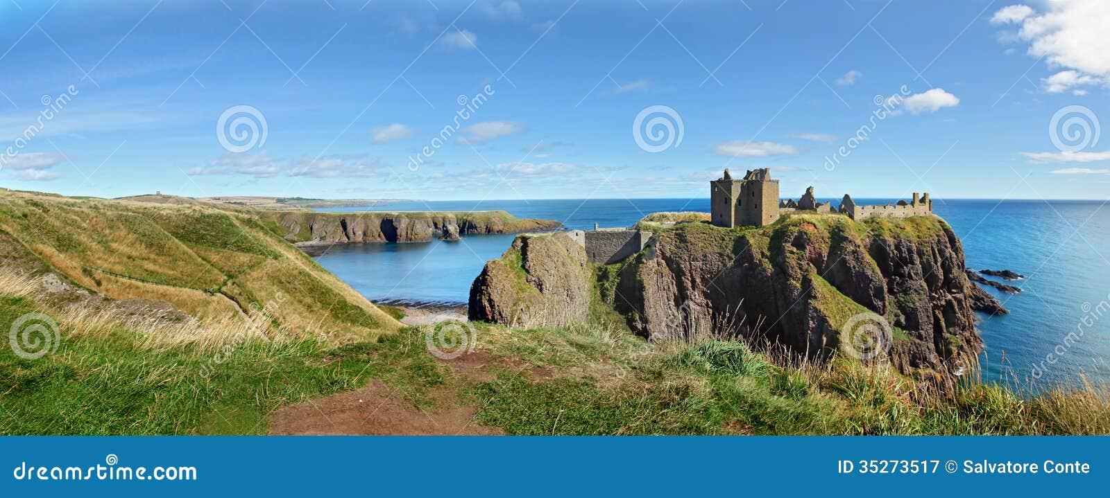 Dunnottar slott, Skottland, Europa