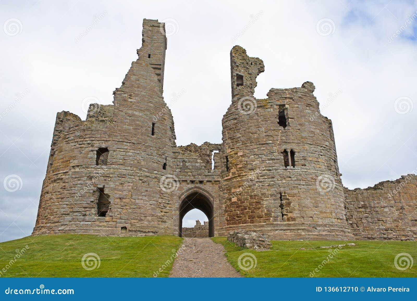 Dunstanburgh Castle - the ruins