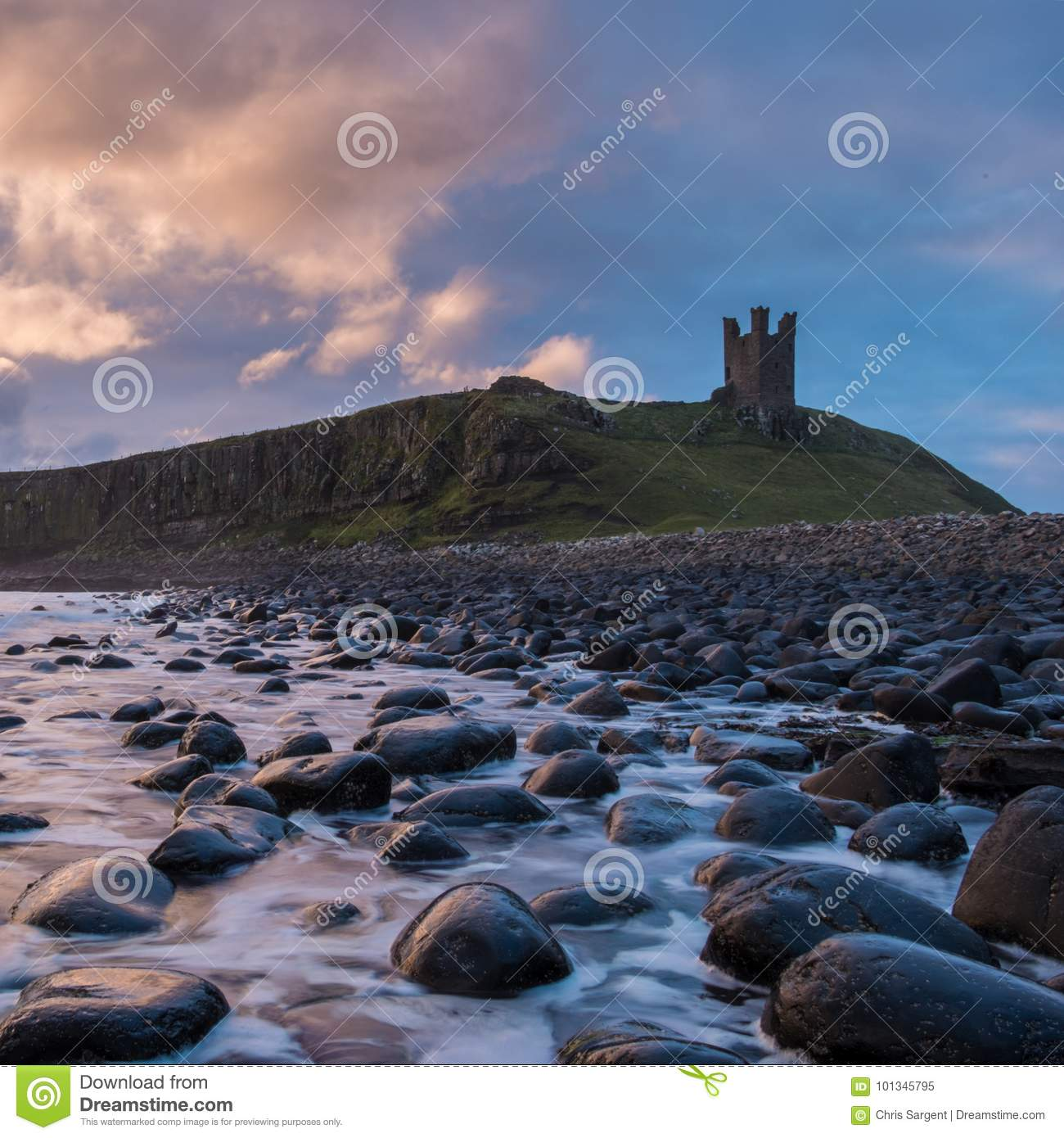 Dunstanburghkasteel in Northumberland