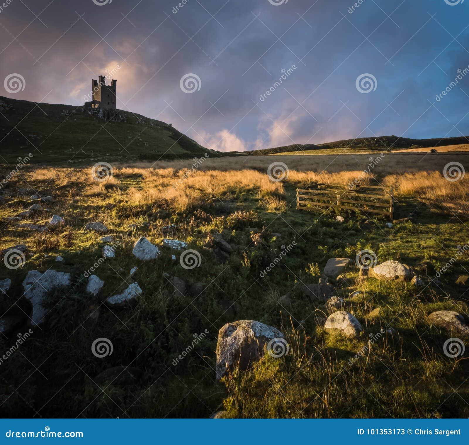 Dunstanburghkasteel in Northumberland