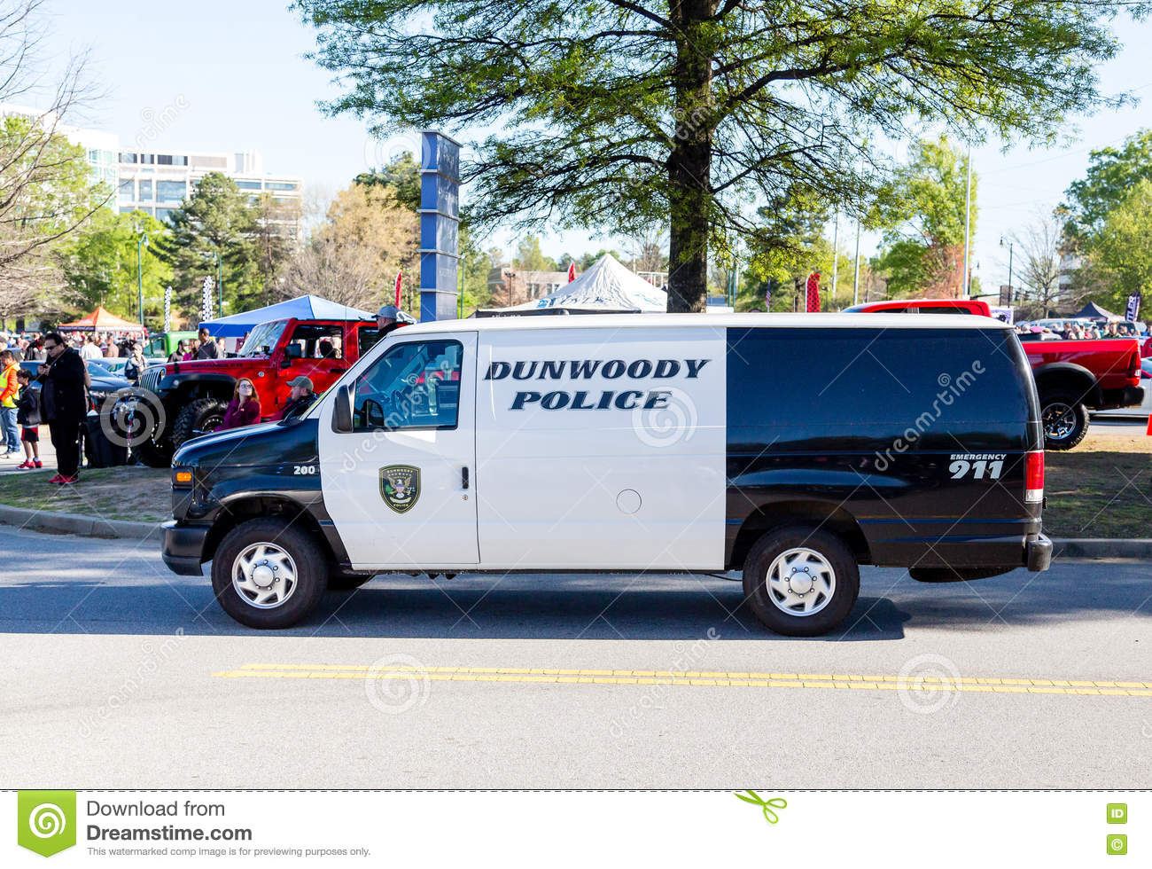 Dunwoody Police Van At Car Show Editorial Image Image Of Classic - Caffeine and octane car show schedule