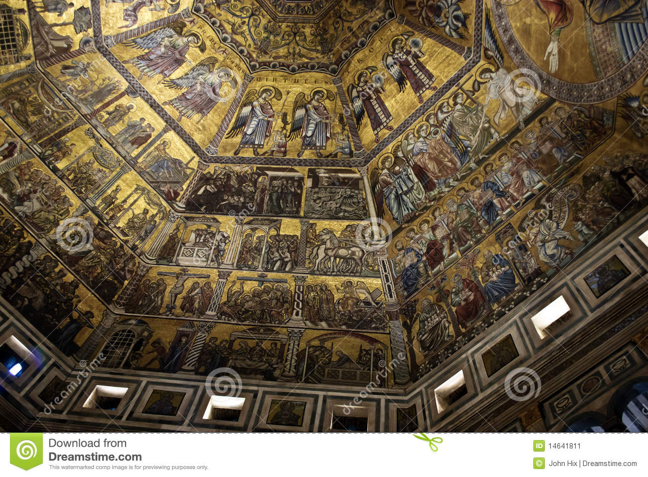 Duomo Baptistery In Florence Italy Stock Image Image