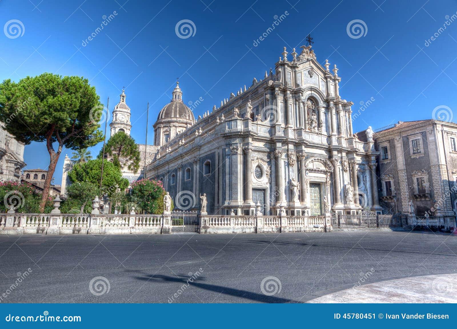 Duomo, catedral, Catania, Sicilia, Italia