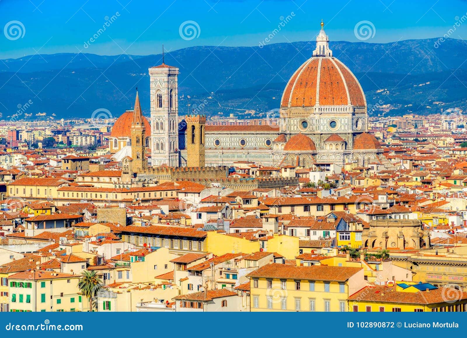 Duomo en Campanile van Giotto ` s, Florence, Italië