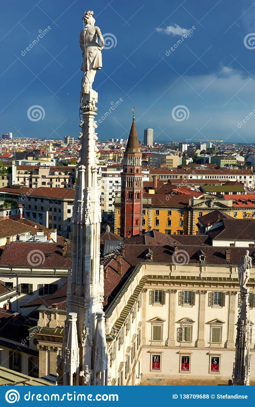Duomo Milaan in Italië