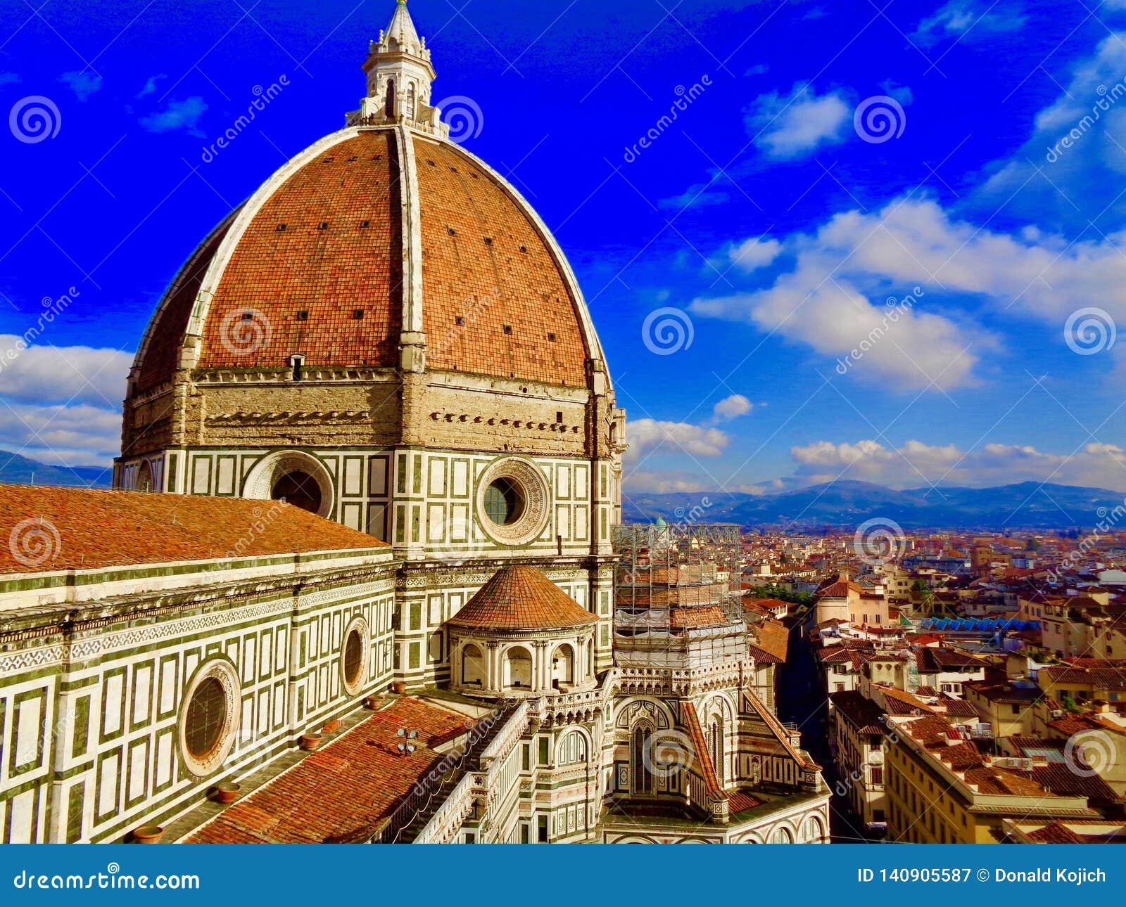 Duomosikt i Florence, Italien