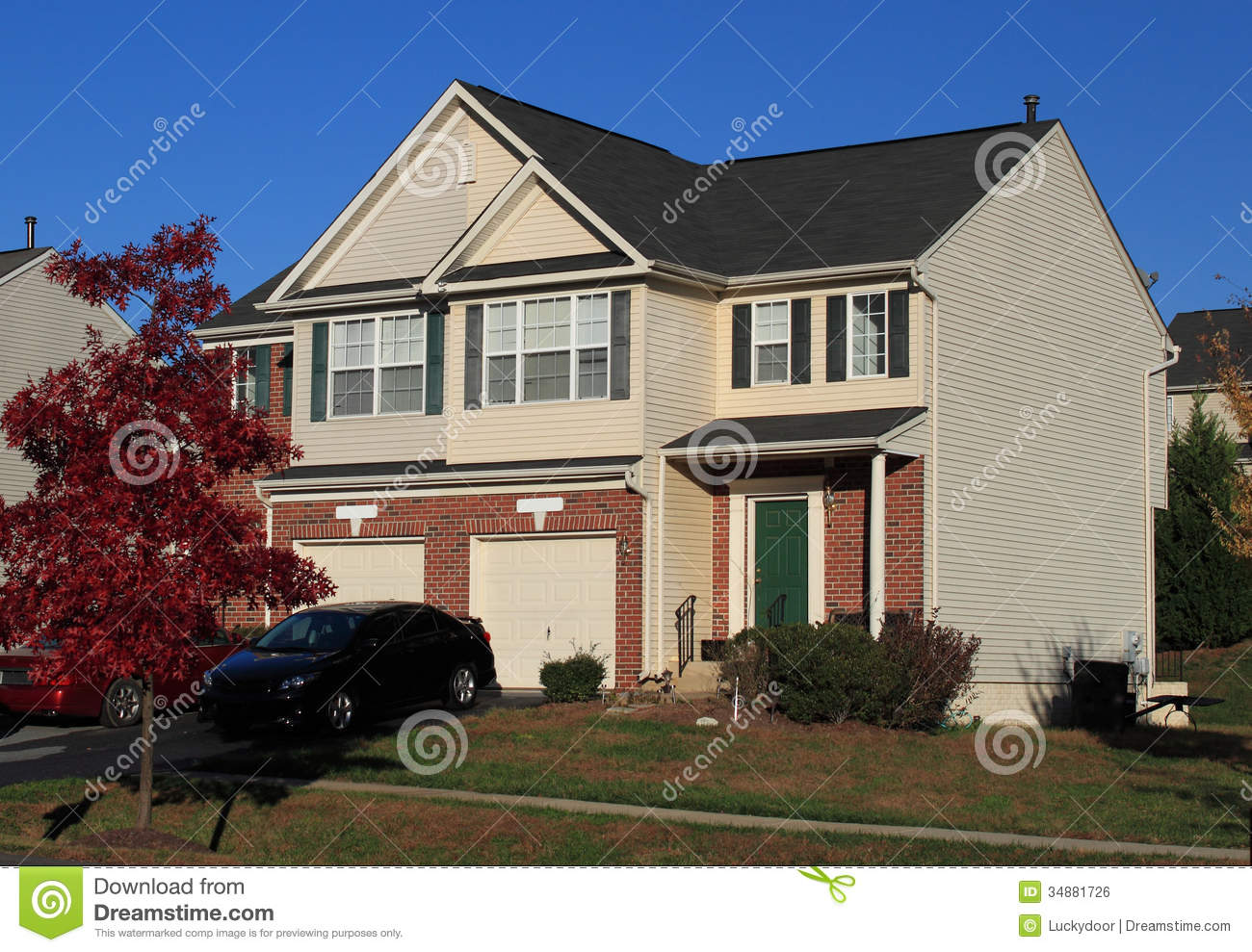 Duplex homes royalty free stock image image 34881726 for Duplex home builders