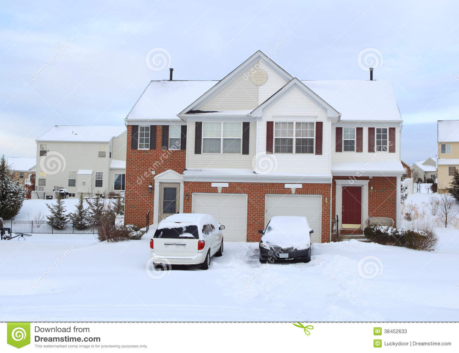 Duplex homes stock photos image 38452633 for Duplex builders