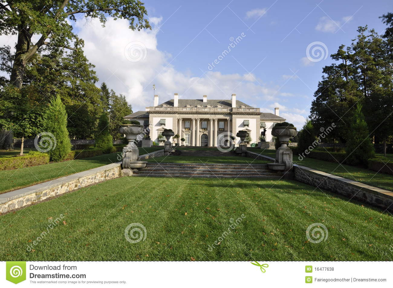 dupont mansion and gardens royalty free stock photos