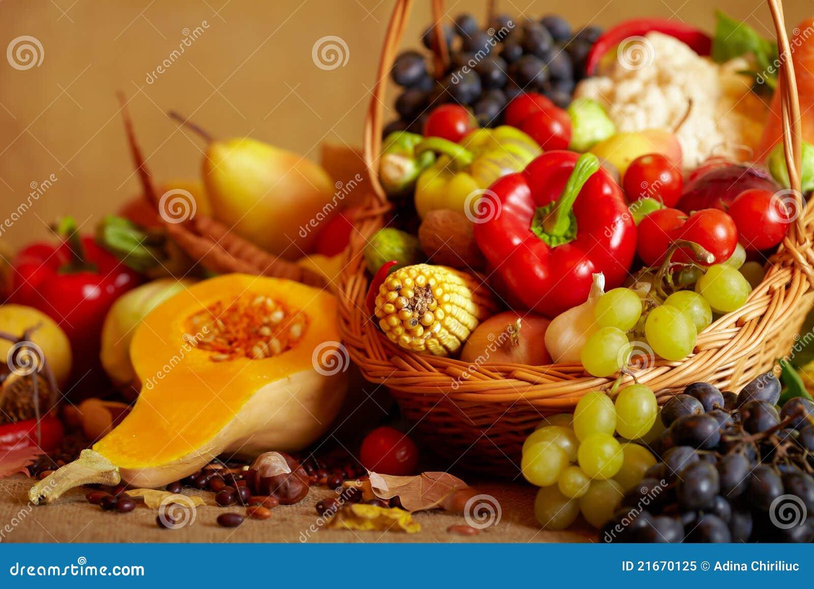 Top Durée Toujours Avec Des Légumes Et Des Fruits D'automne Image  YQ46