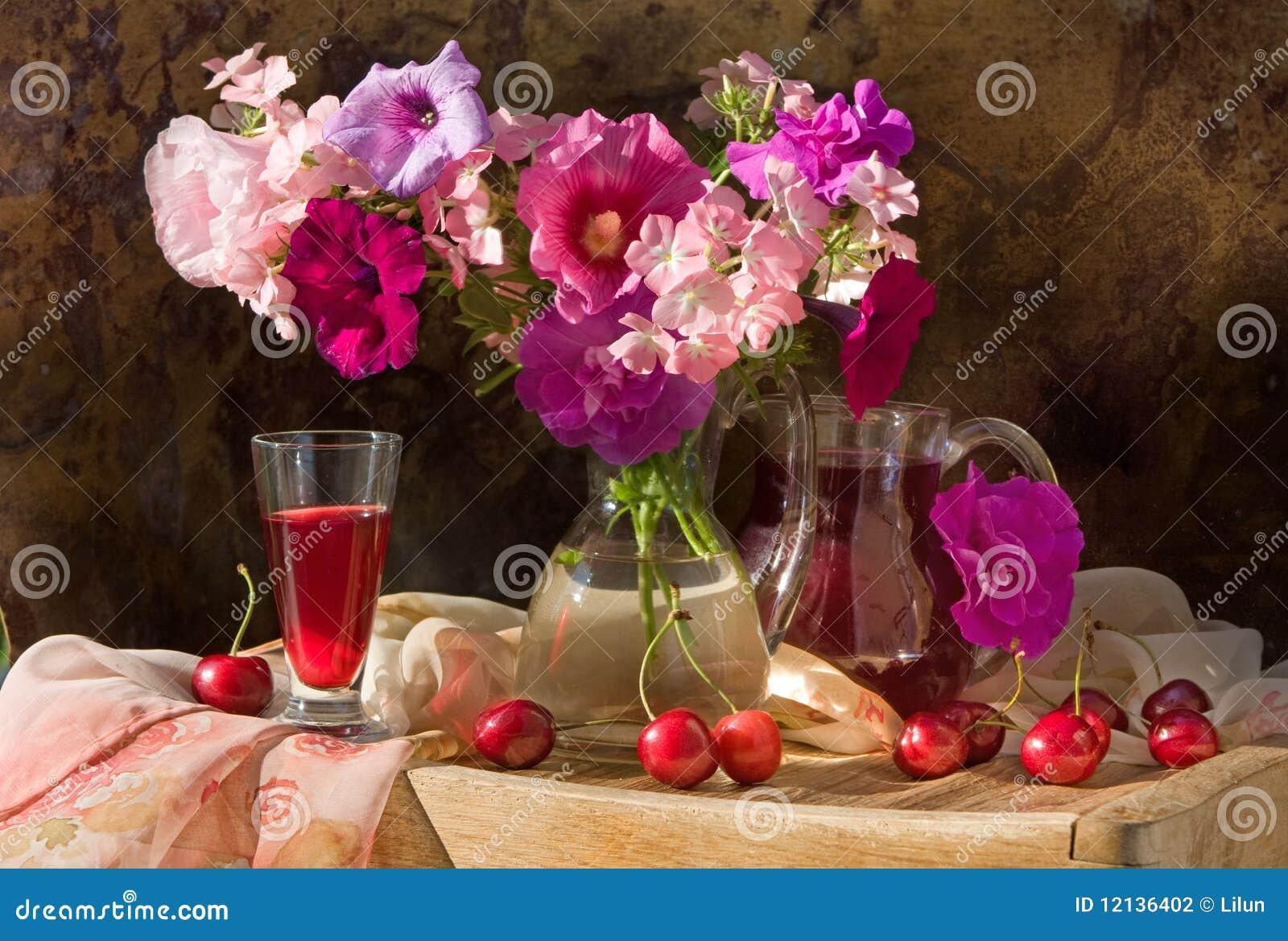 Durée toujours avec les fleurs et le vin