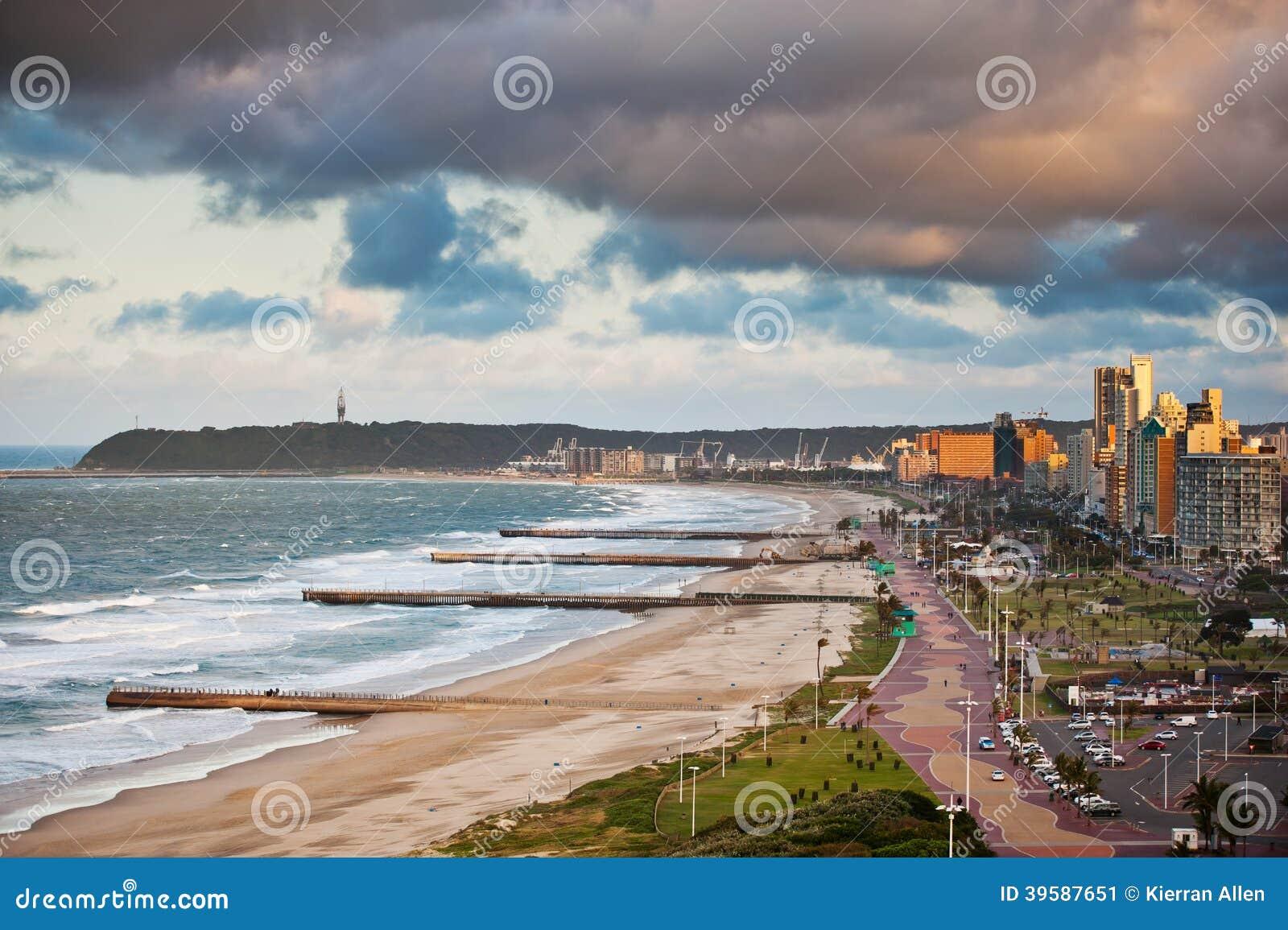 Durban Suráfrica frente al mar