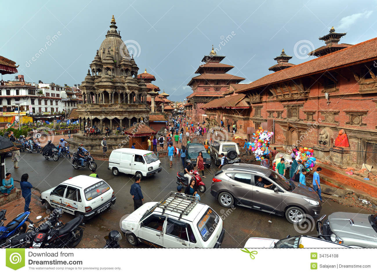 The Durbar Square Of Patan Royal City Nepal Editorial