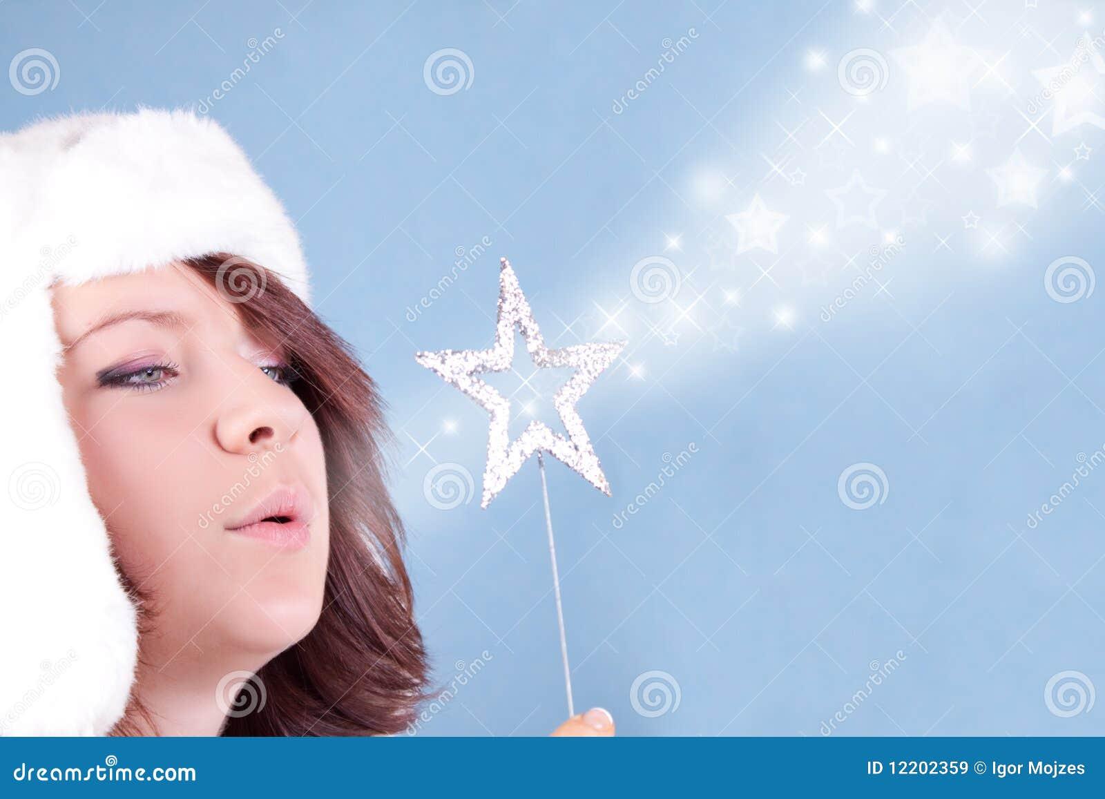 Durchbrennensterne des Weihnachtsmädchens