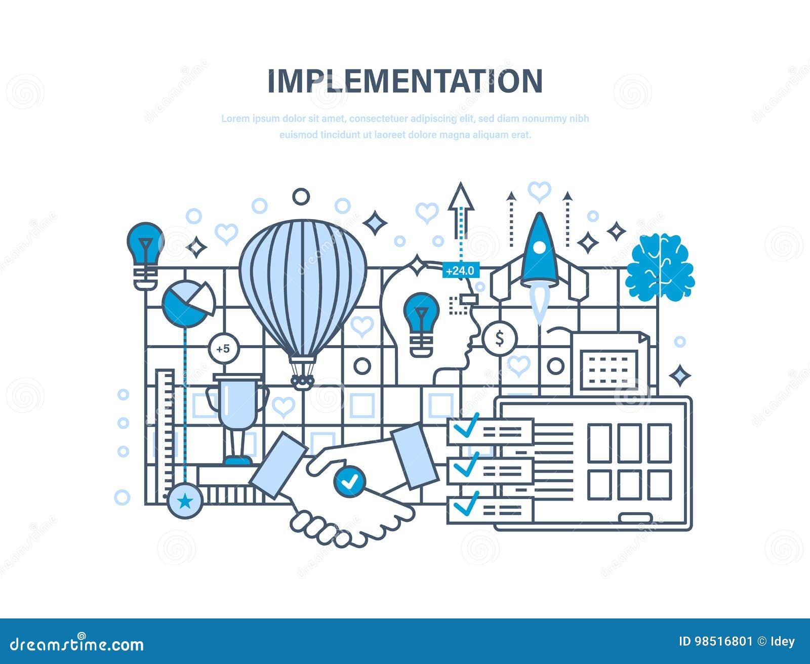 Durchführungskonzept Realisierung von Ideen, von Partnerschaft und von Zusammenarbeit, Vision, Schaffung
