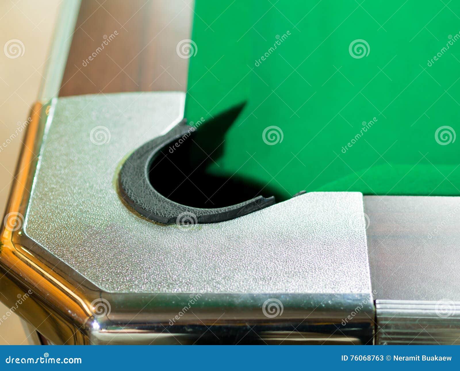 Durchlöchert Billardtisch In Den Kaffeestuben Stock Abbildung ...