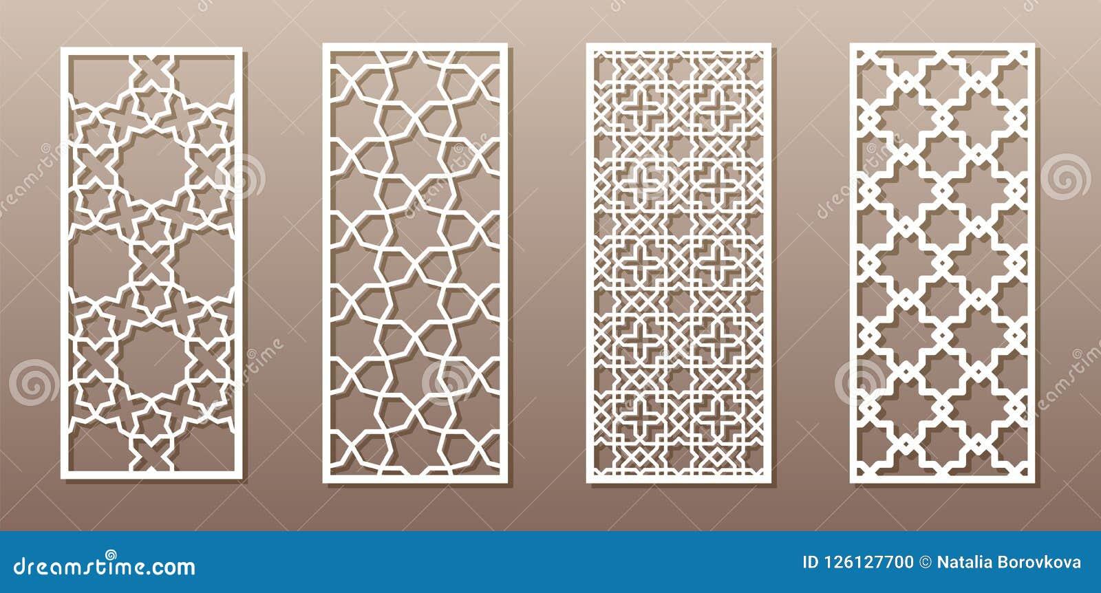 Durchsichtiges Schattenbild Mit Arabischem Muster Moslemisches