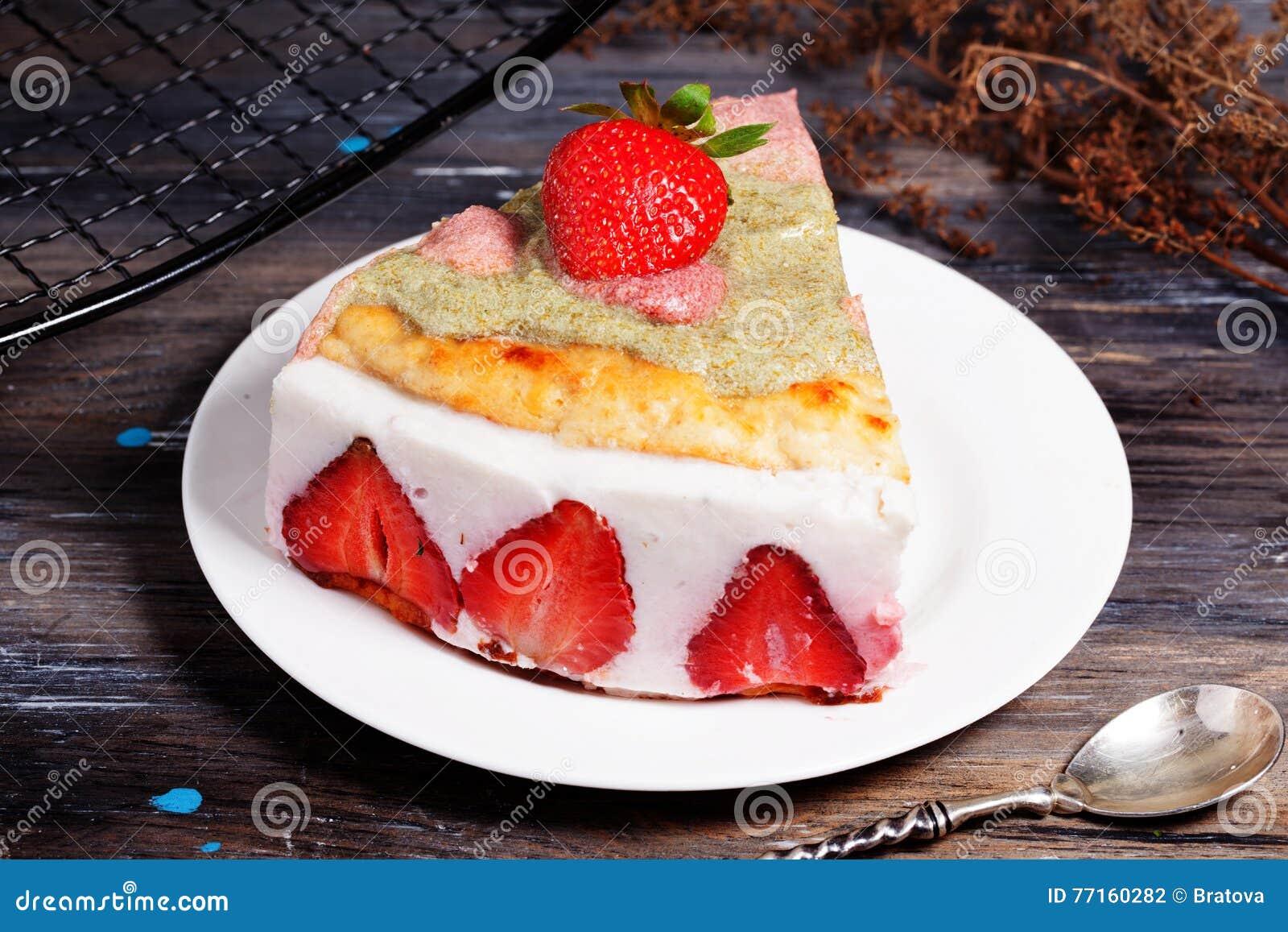 Durcissez avec du yaourt et des fraises, toujours, la Provence, vintage