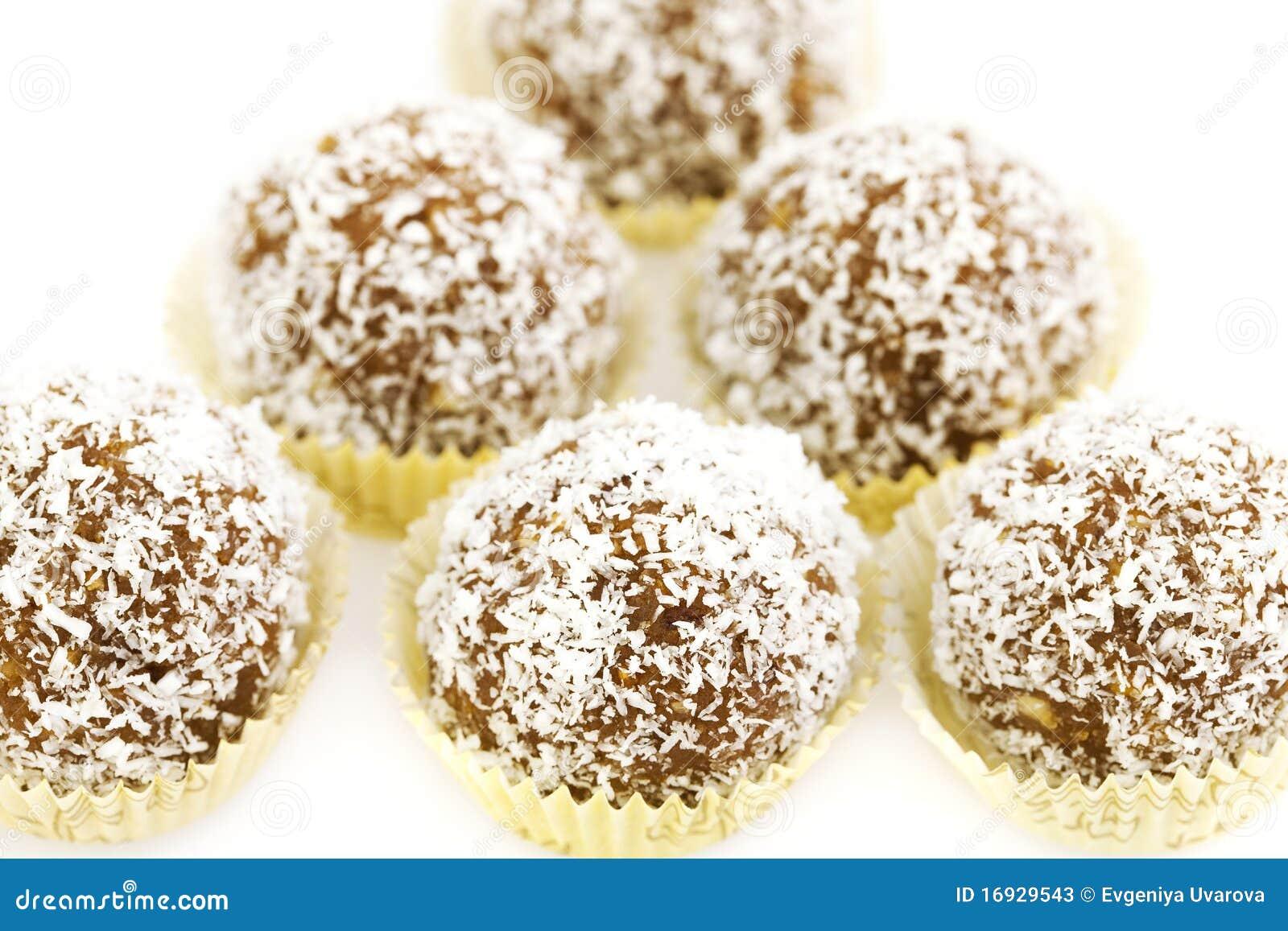 Durcissez complété avec des éclailles de noix de coco