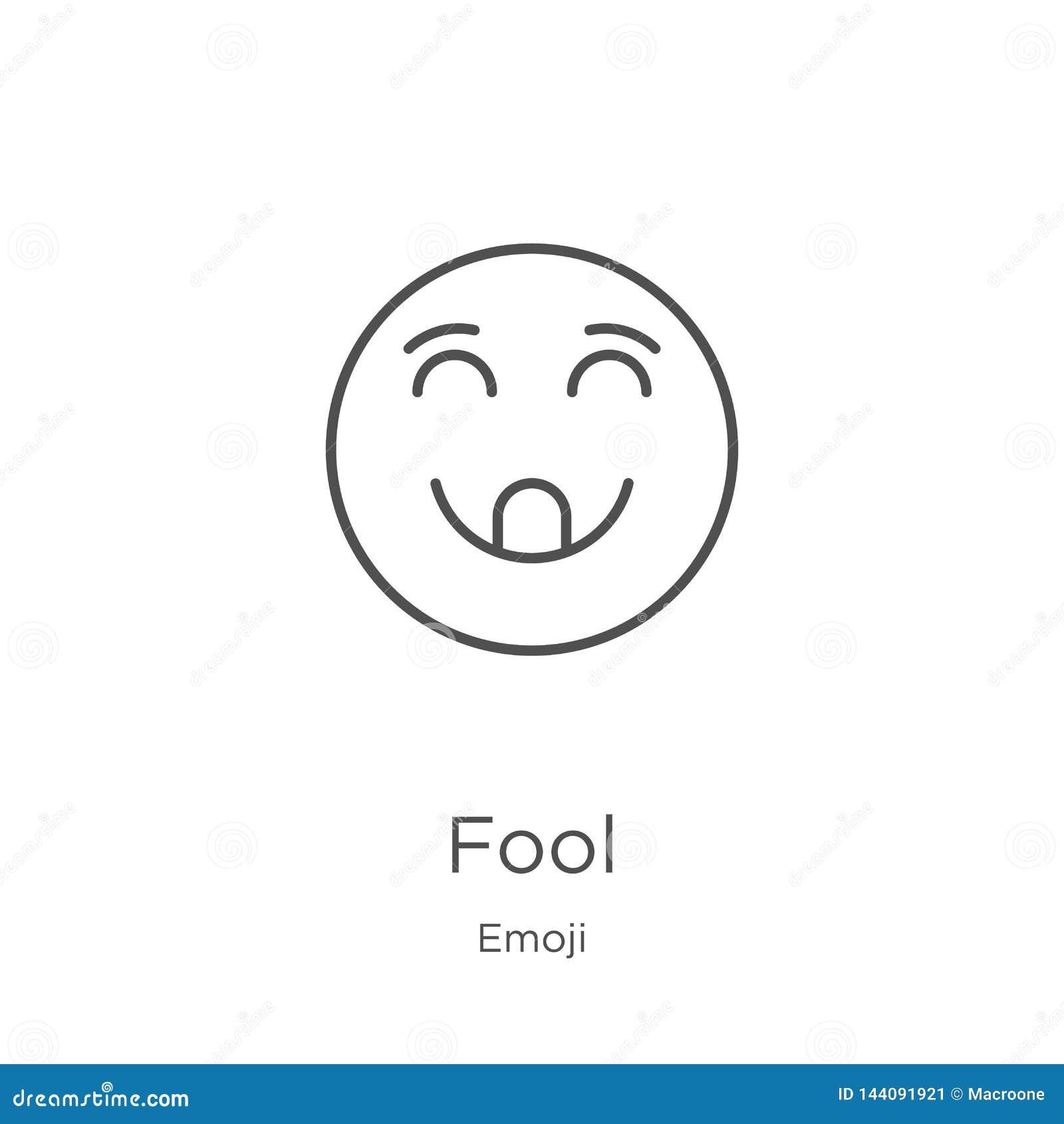 Dureń ikony wektor od emoji kolekcji Cienka kreskowa durnia konturu ikony wektoru ilustracja Kontur, cienka kreskowa dureń ikona