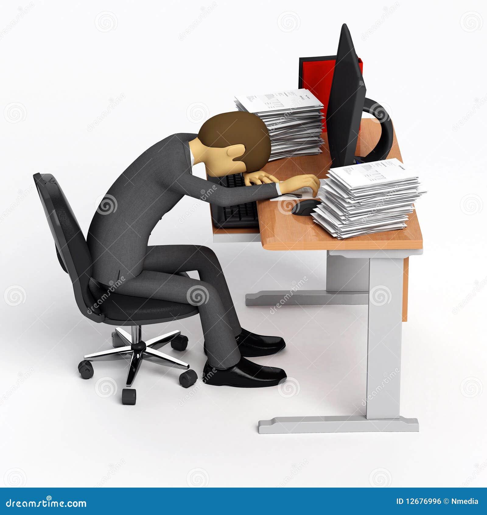 Dure journée au travail