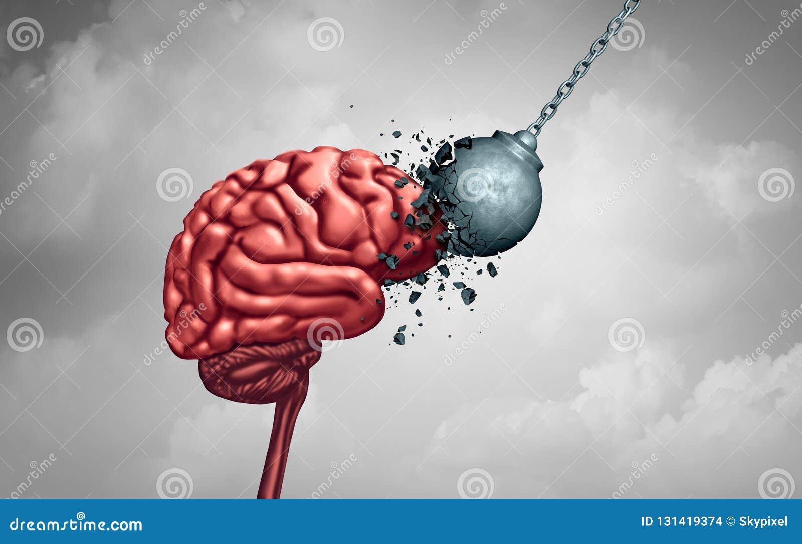 Dureza mental da força e da mente como um conceito da psicologia ou do psiquiatria da neurologia do poder de cérebro como uma saú