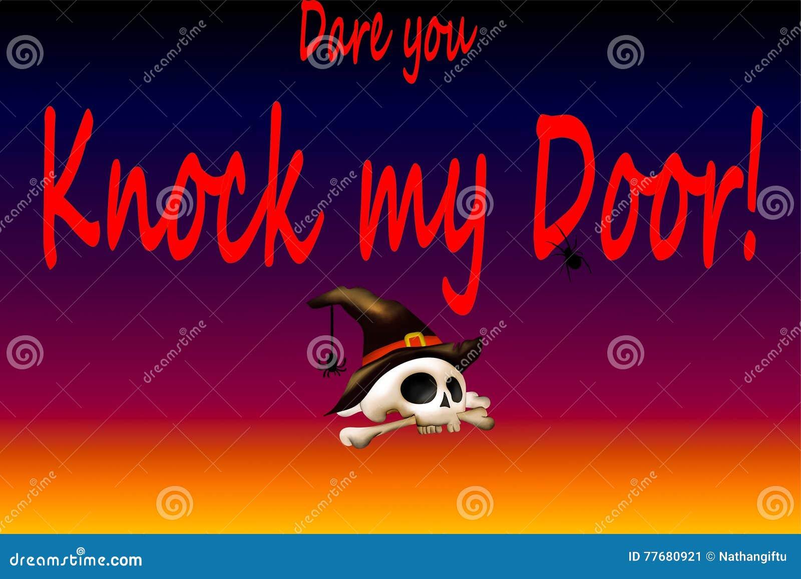 Durf u kloppen mijn deur van Halloween