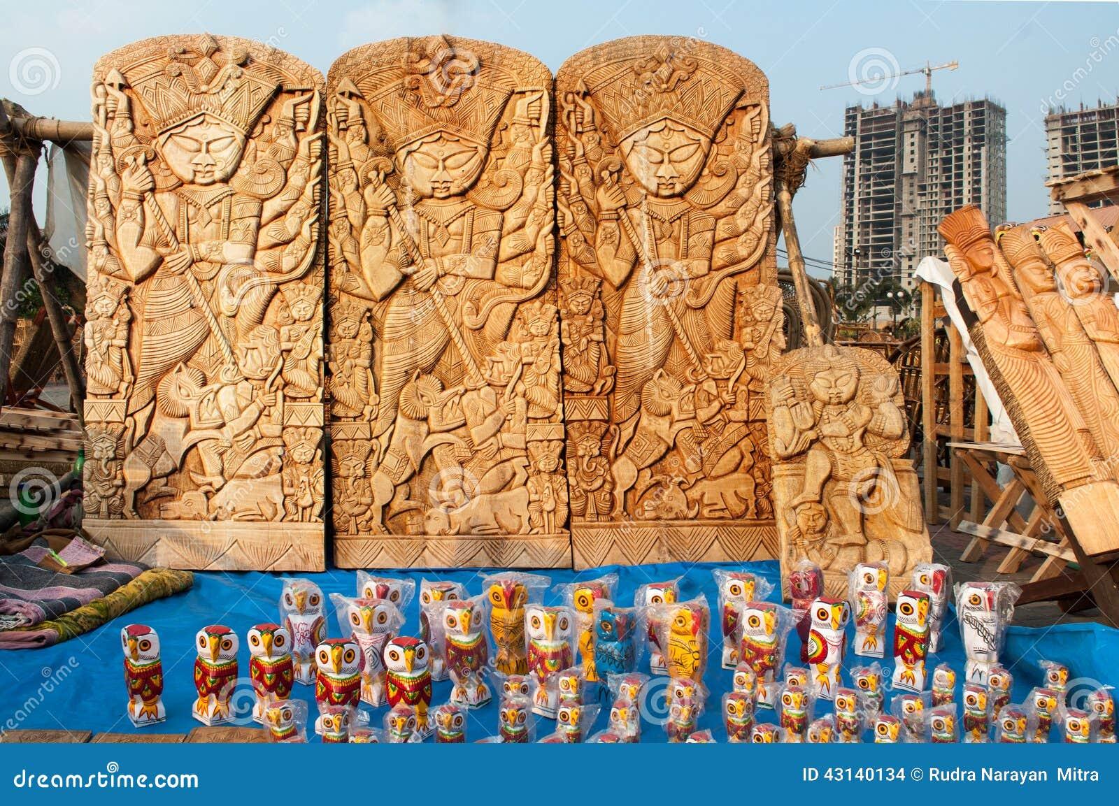 Durga Idol Art Work Indian Handicrafts Fair At Kolkata Editorial