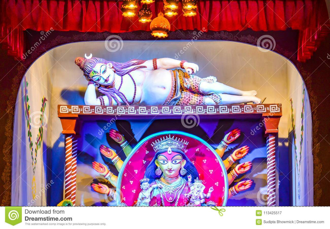 Maa durga idol stock image image of prayer pandal 113425517 durga idol captured from a durga puja pandal in kolkata famous festival of bengal images of shiv and durga altavistaventures Choice Image