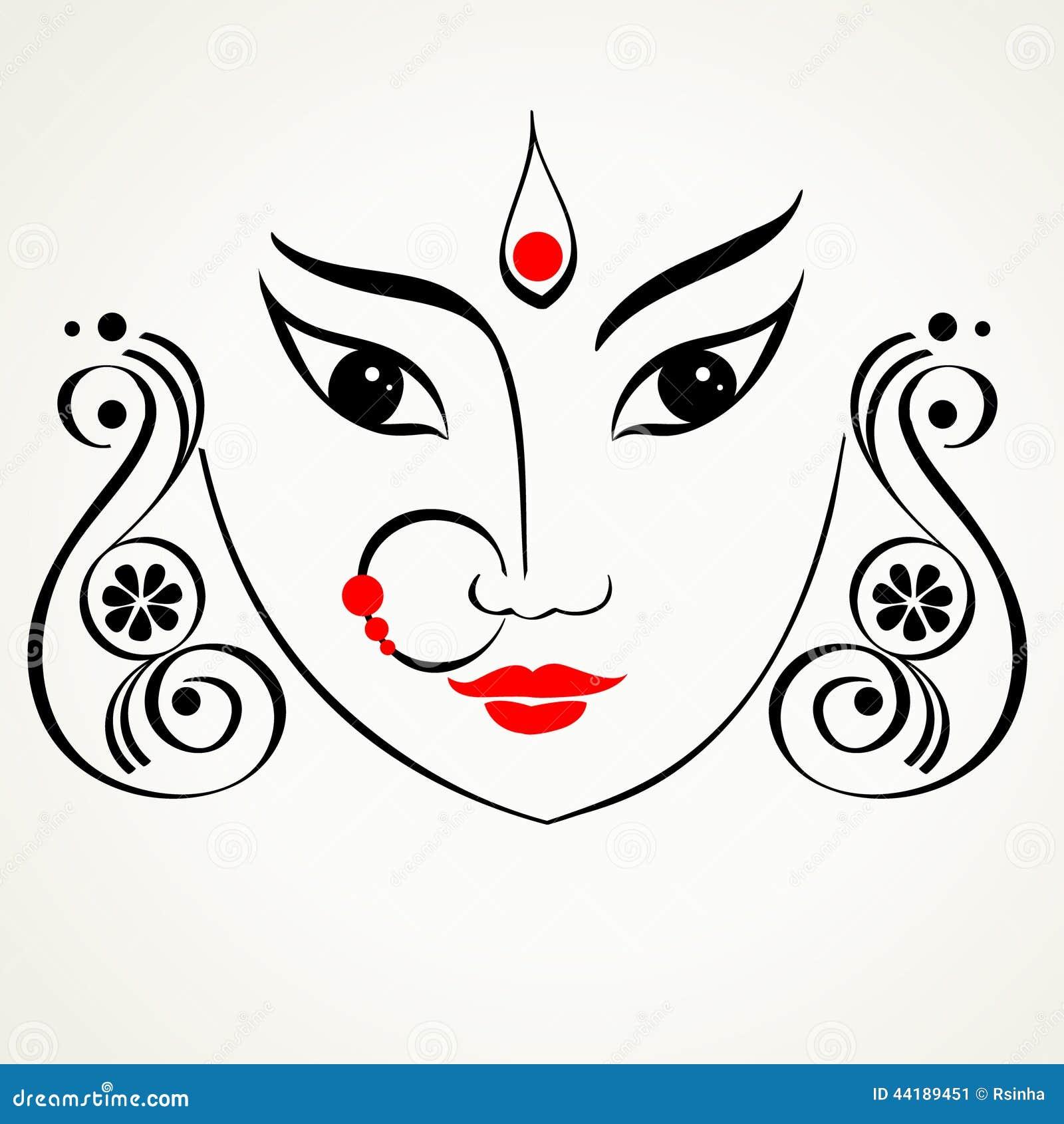 Durga Illustration Stock Vector