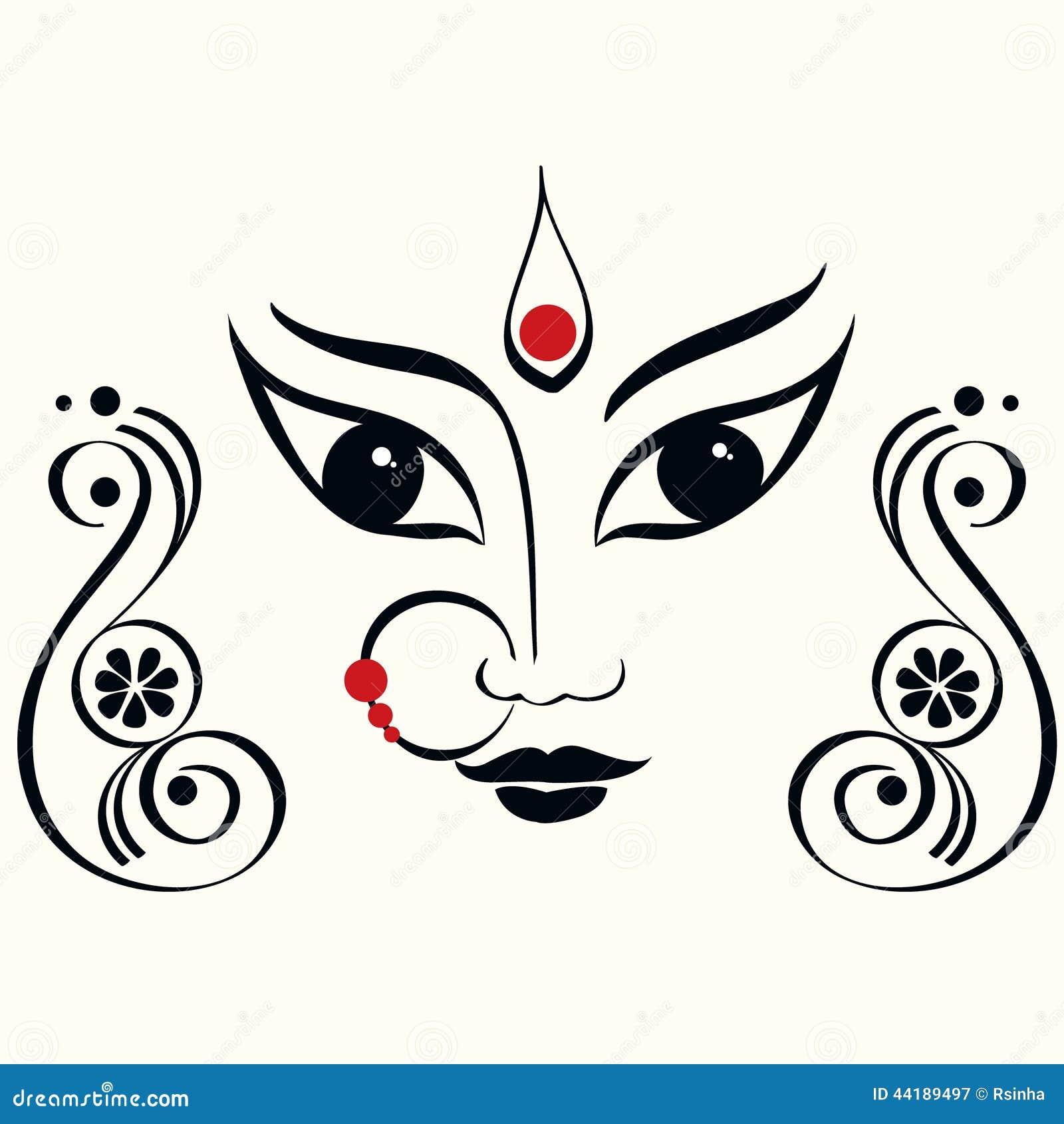 Durga Illustration Stock Vector. Illustration Of
