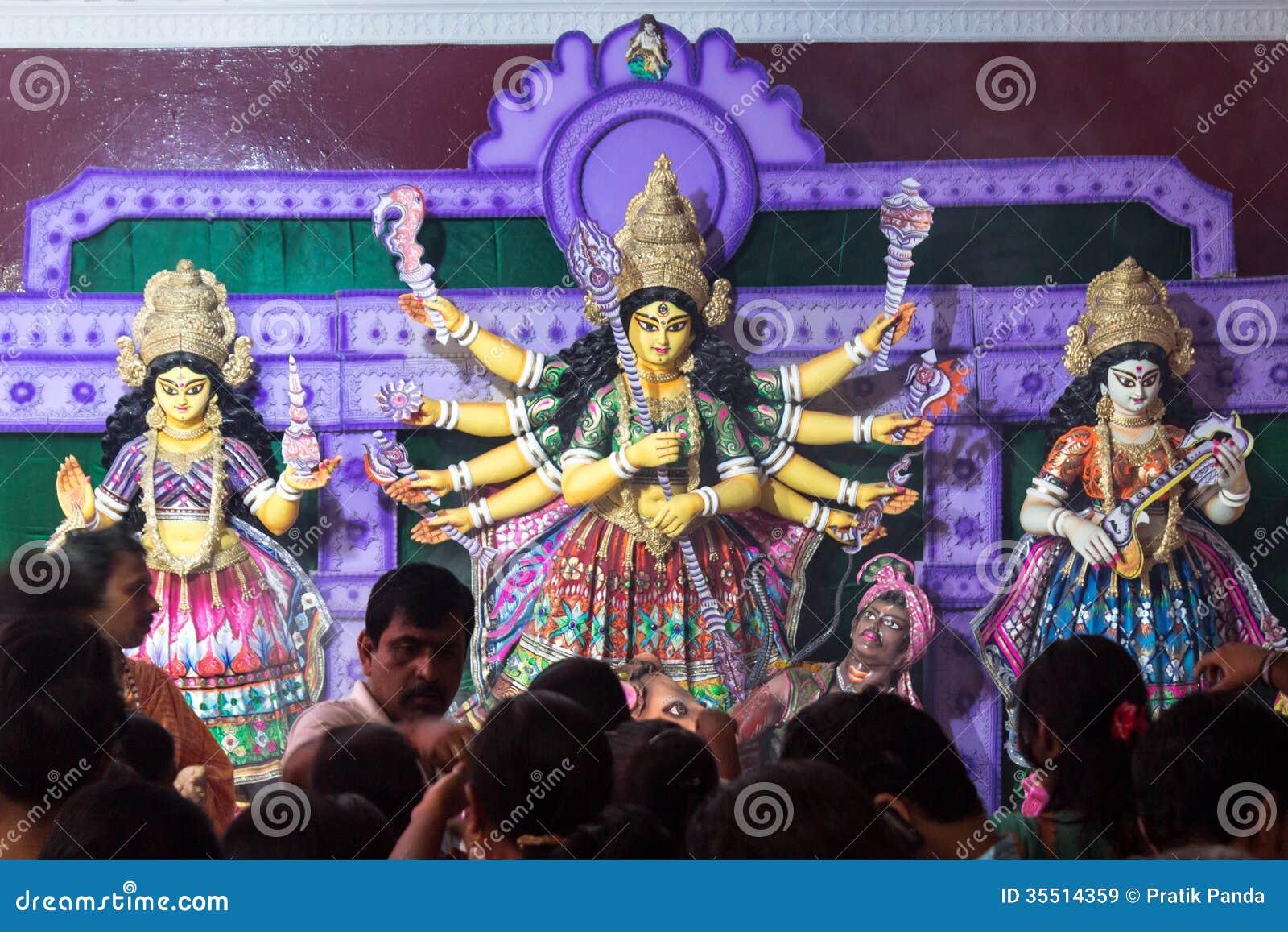 Durga Pooja, Inde indoue de Dieu