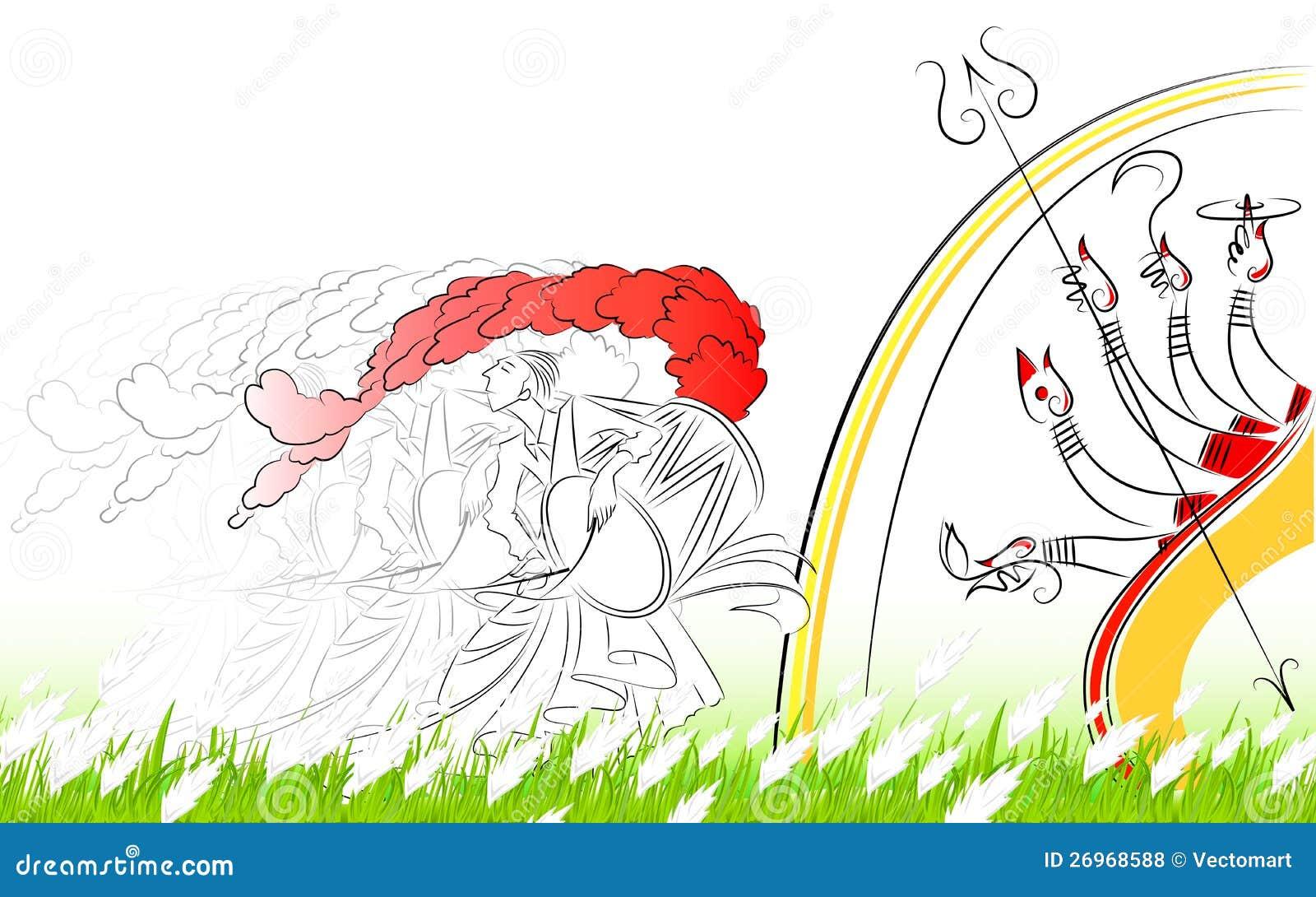 Durga puja stock vector illustration of bengal equipment 26968588 durga puja altavistaventures Gallery