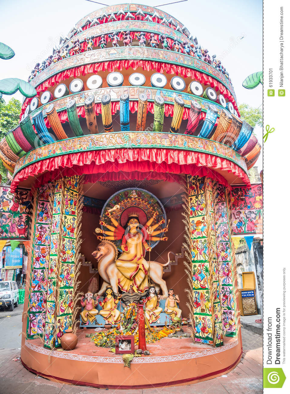 Durga puja pandal and idols stock image image of color asia durga puja pandal and idols thecheapjerseys Images