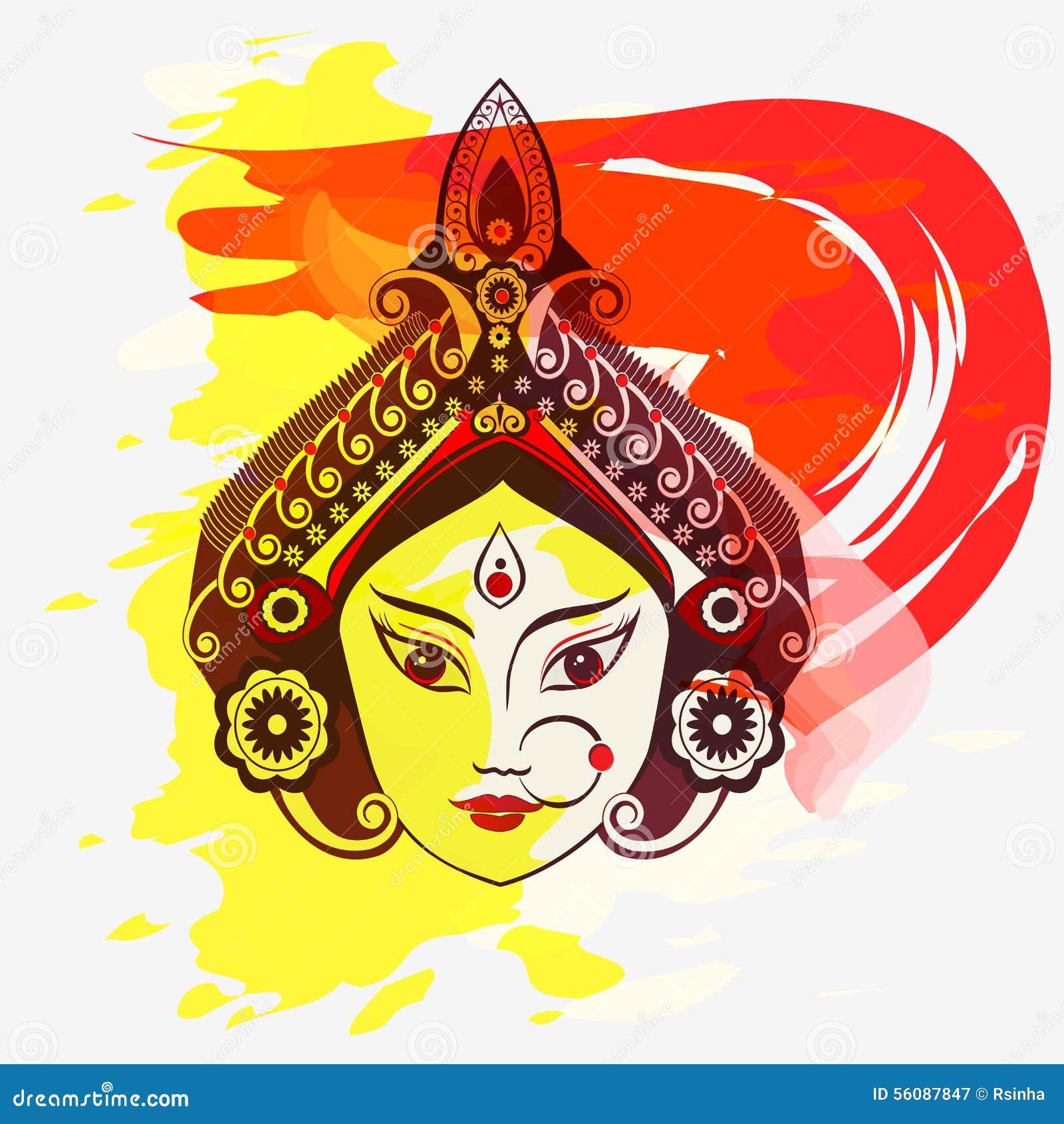 Goddess Durga Face Clipart