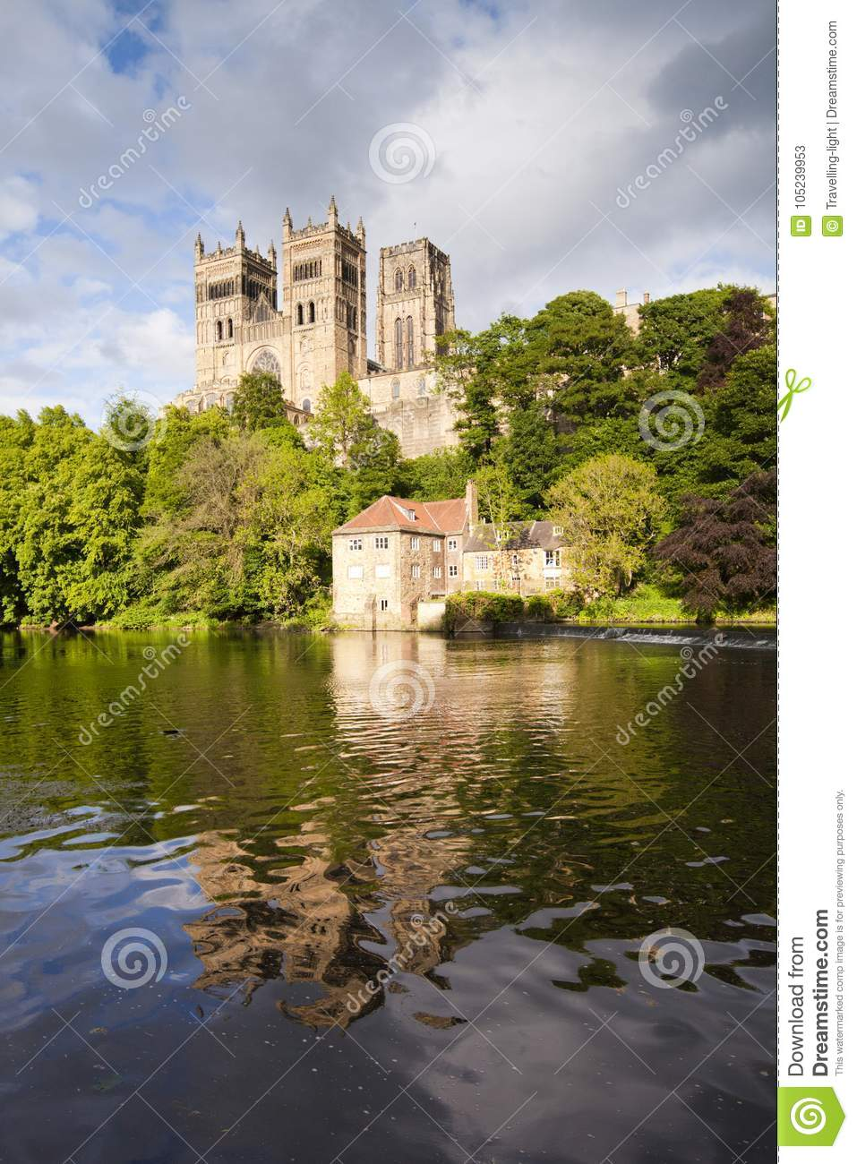 Durham Cathedral And River Wear Stock Image Image Of Museum