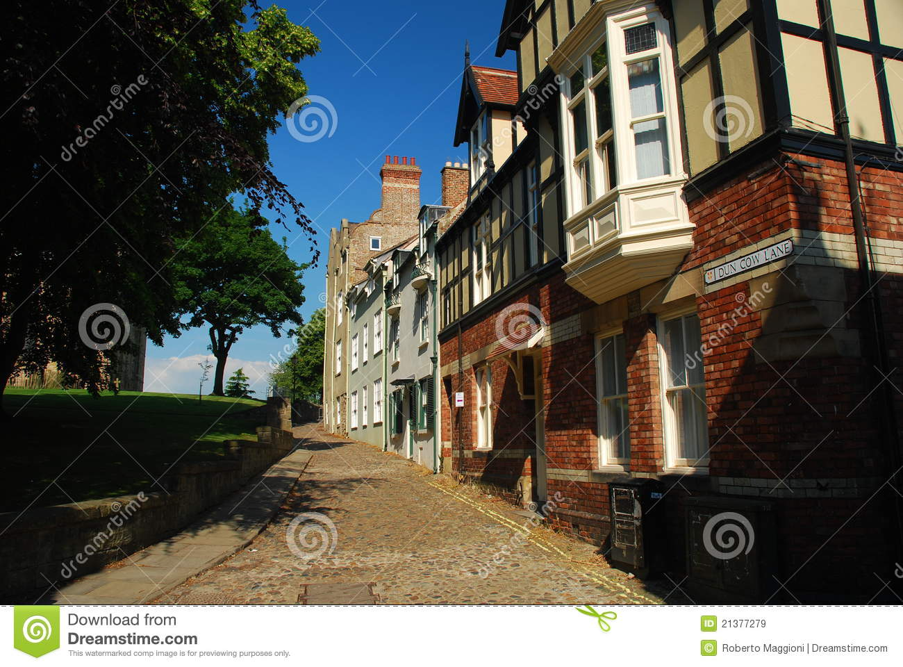 Durham City Centre Alley Stock Image Image Of Britain 21377279