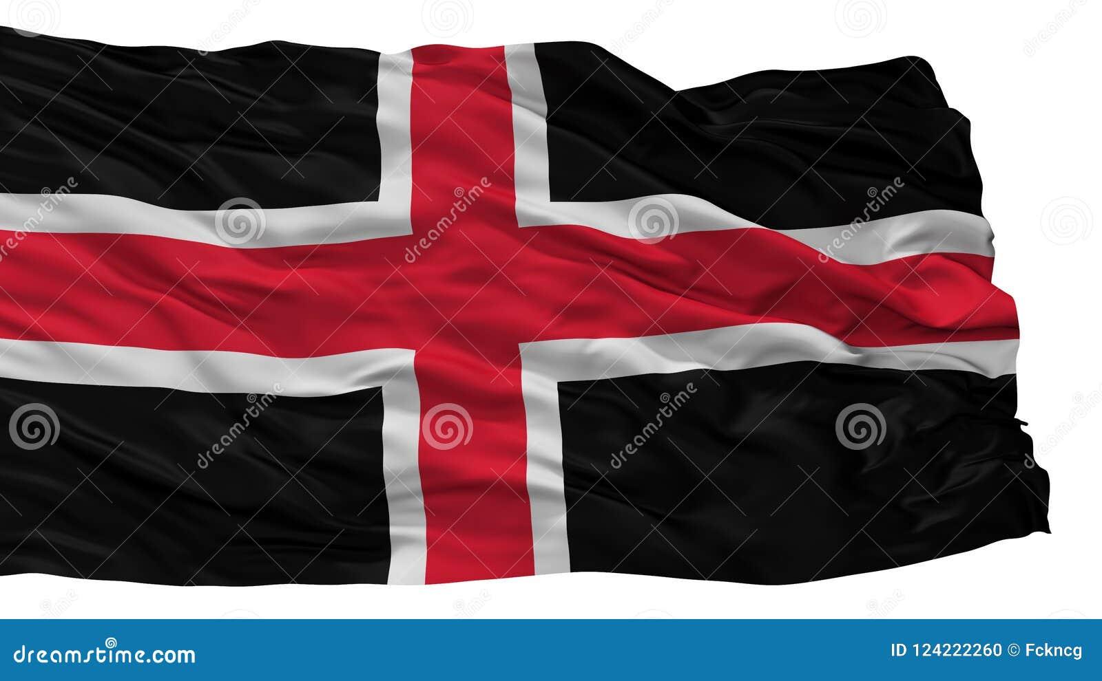 Durham City Flag Uk Isolated On White Background Stock